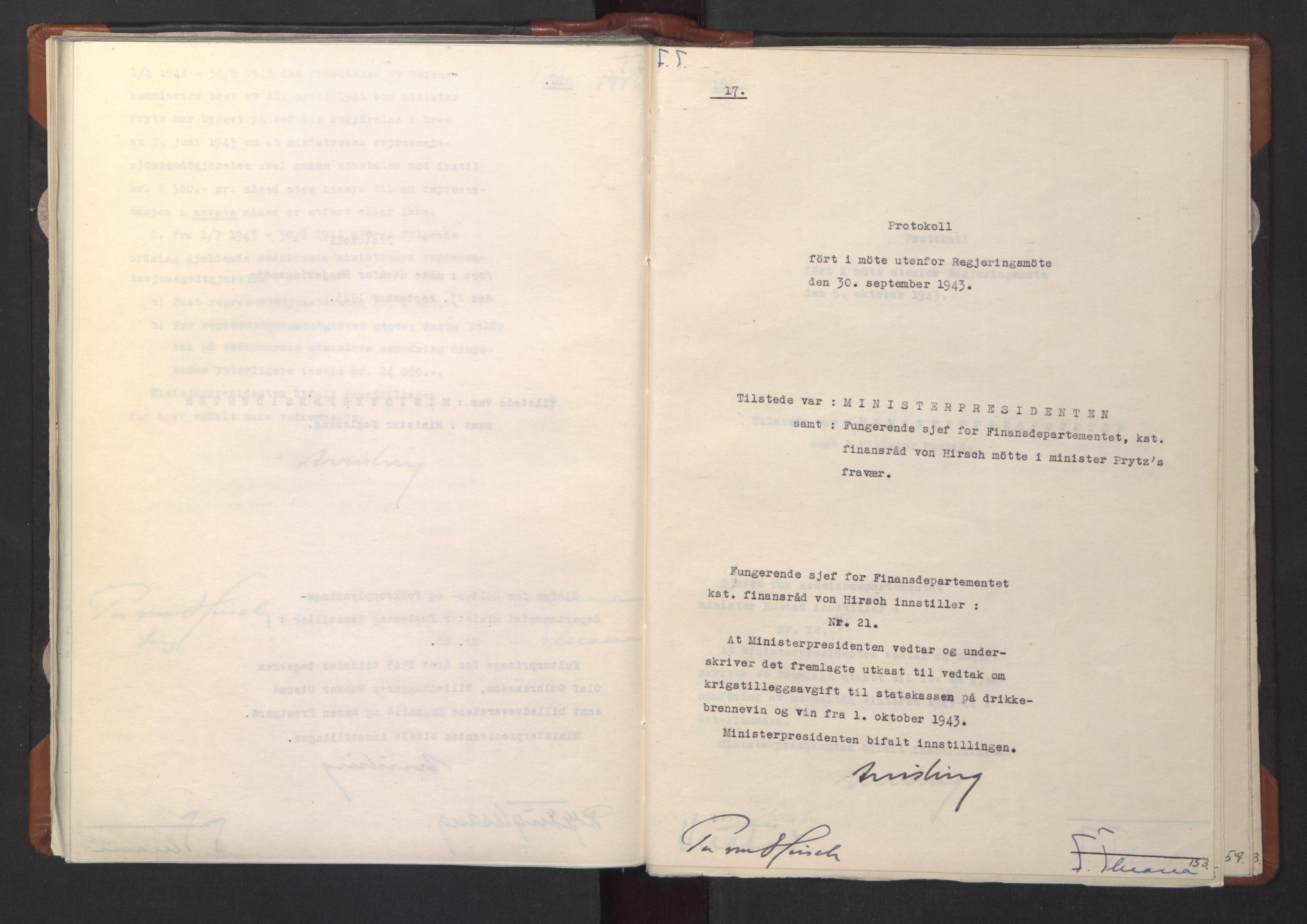 RA, NS-administrasjonen 1940-1945 (Statsrådsekretariatet, de kommisariske statsråder mm), D/Da/L0003: Vedtak (Beslutninger) nr. 1-746 og tillegg nr. 1-47 (RA. j.nr. 1394/1944, tilgangsnr. 8/1944, 1943, s. 152b-153a