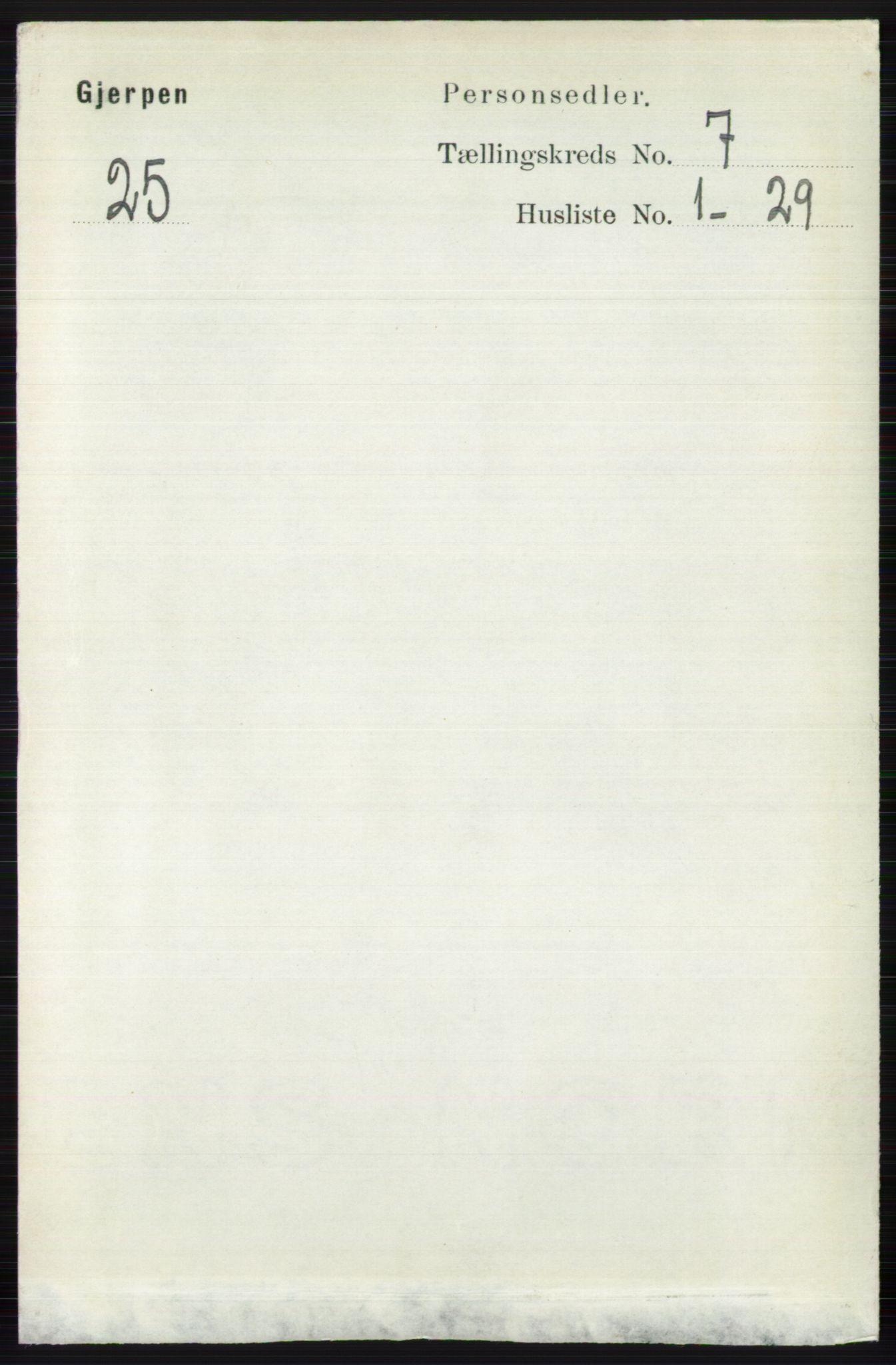 RA, Folketelling 1891 for 0812 Gjerpen herred, 1891, s. 3403