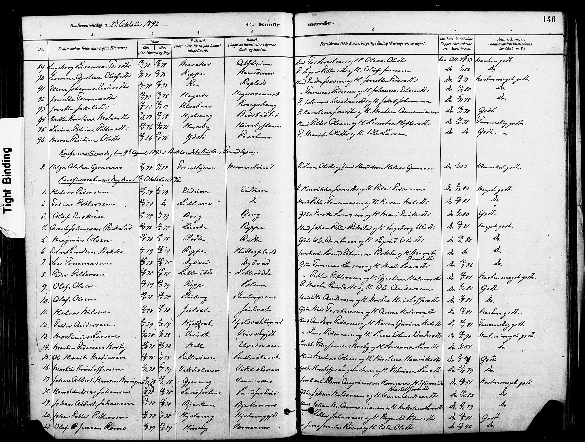 SAT, Ministerialprotokoller, klokkerbøker og fødselsregistre - Nord-Trøndelag, 709/L0077: Ministerialbok nr. 709A17, 1880-1895, s. 146