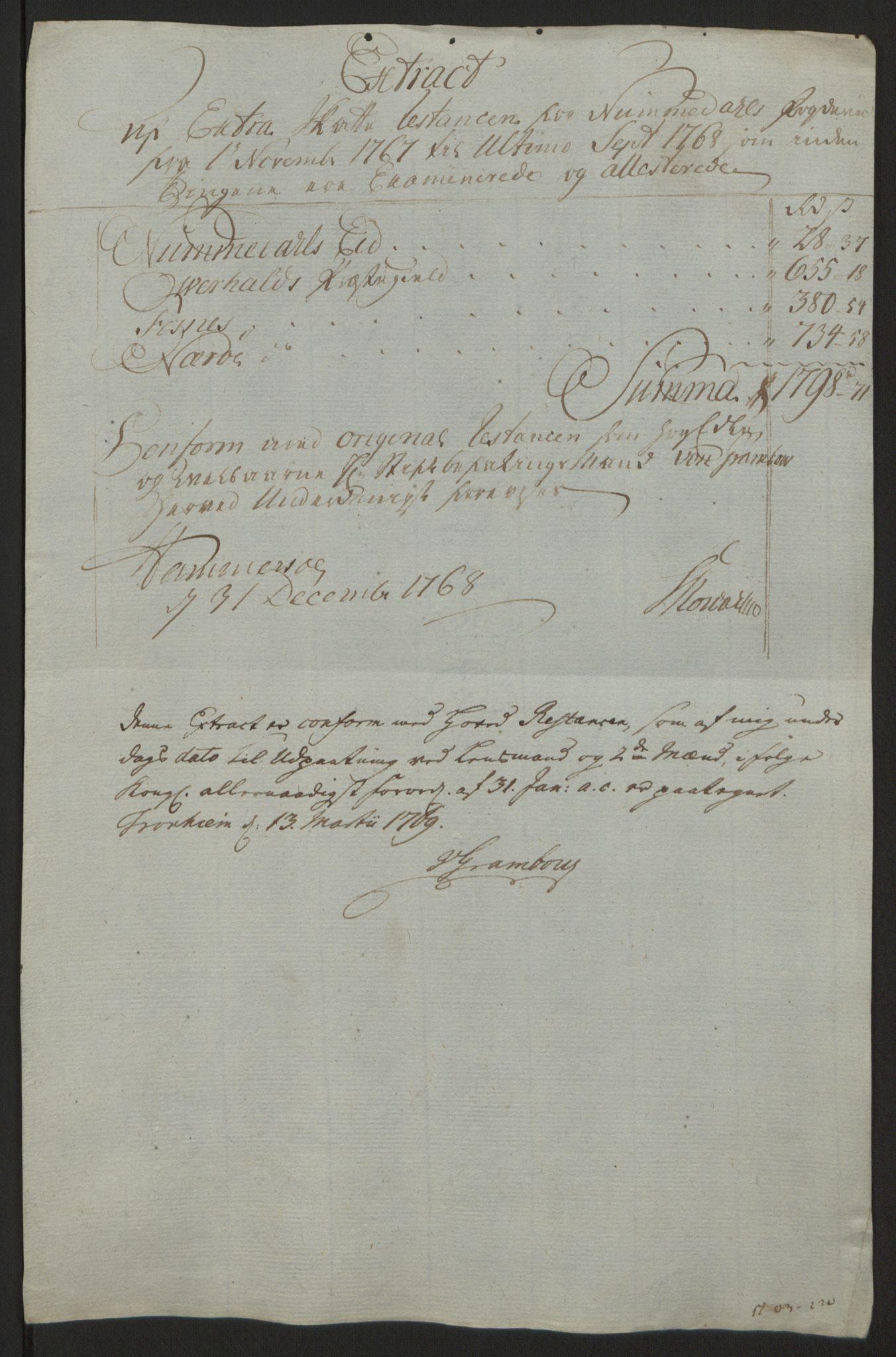 RA, Rentekammeret inntil 1814, Reviderte regnskaper, Fogderegnskap, R64/L4502: Ekstraskatten Namdal, 1762-1772, s. 285
