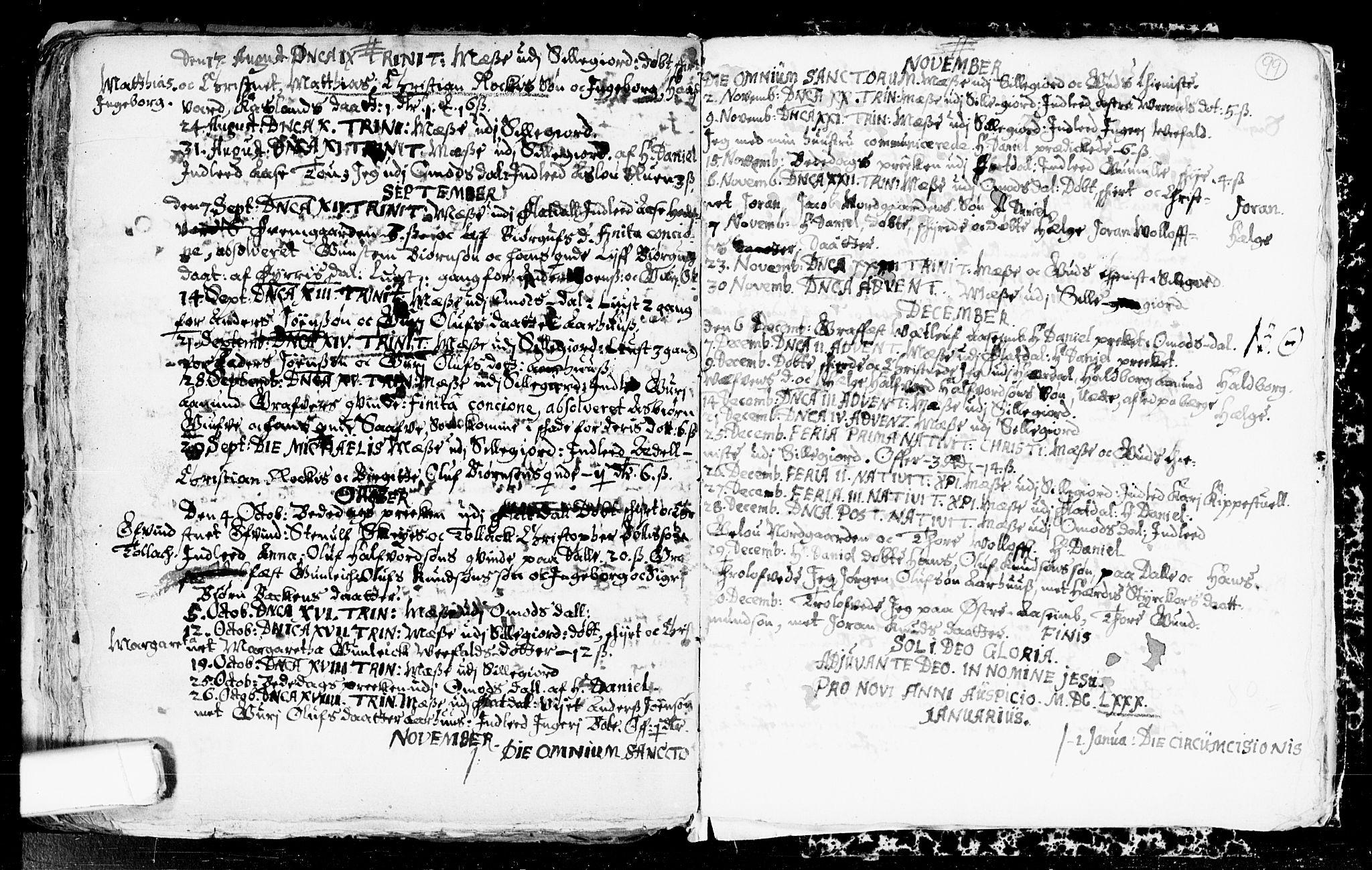 SAKO, Seljord kirkebøker, F/Fa/L0001: Ministerialbok nr. I 1, 1654-1686, s. 99