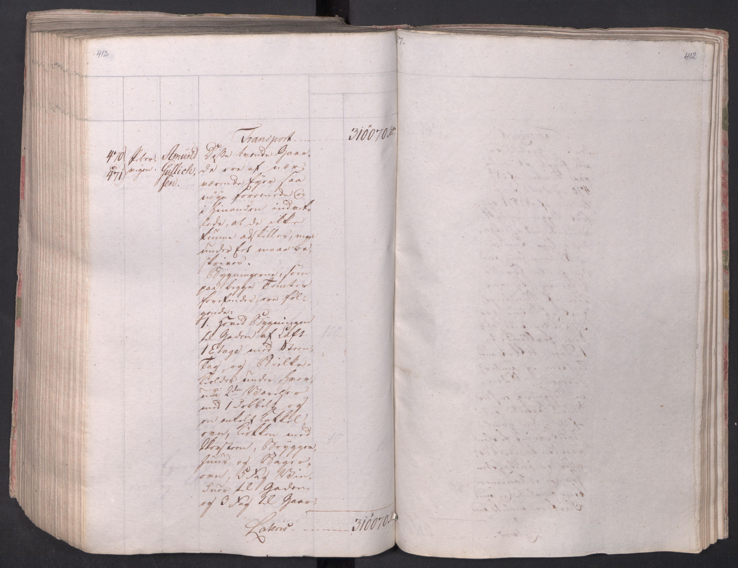 SAO, Kristiania stiftamt, I/Ia/L0015: Branntakster, 1797, s. 412