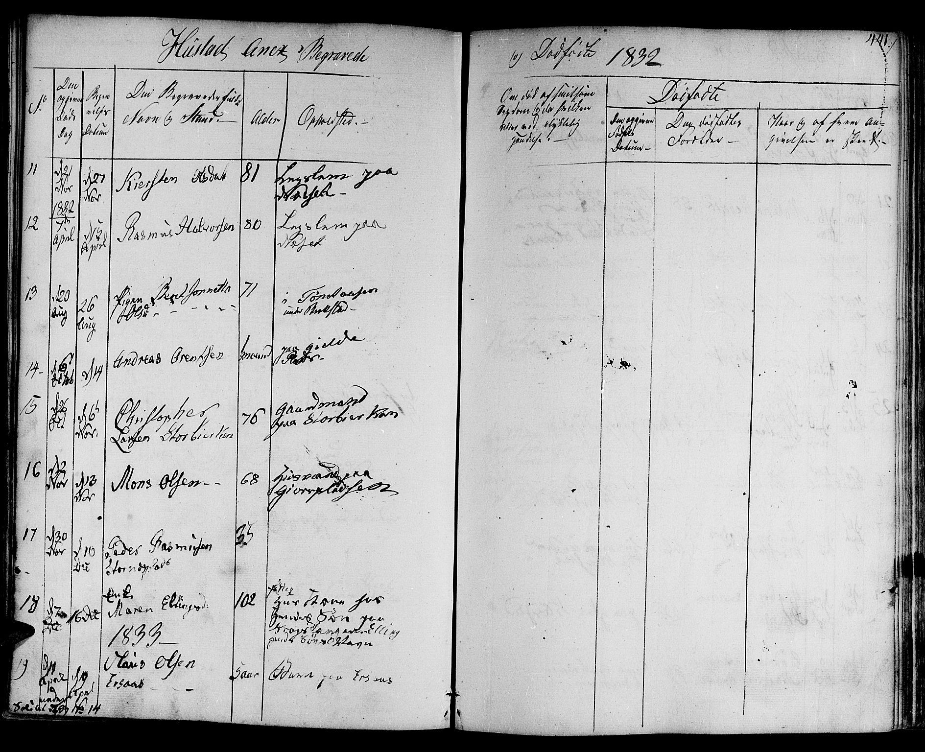 SAT, Ministerialprotokoller, klokkerbøker og fødselsregistre - Nord-Trøndelag, 730/L0277: Ministerialbok nr. 730A06 /3, 1830-1839, s. 441