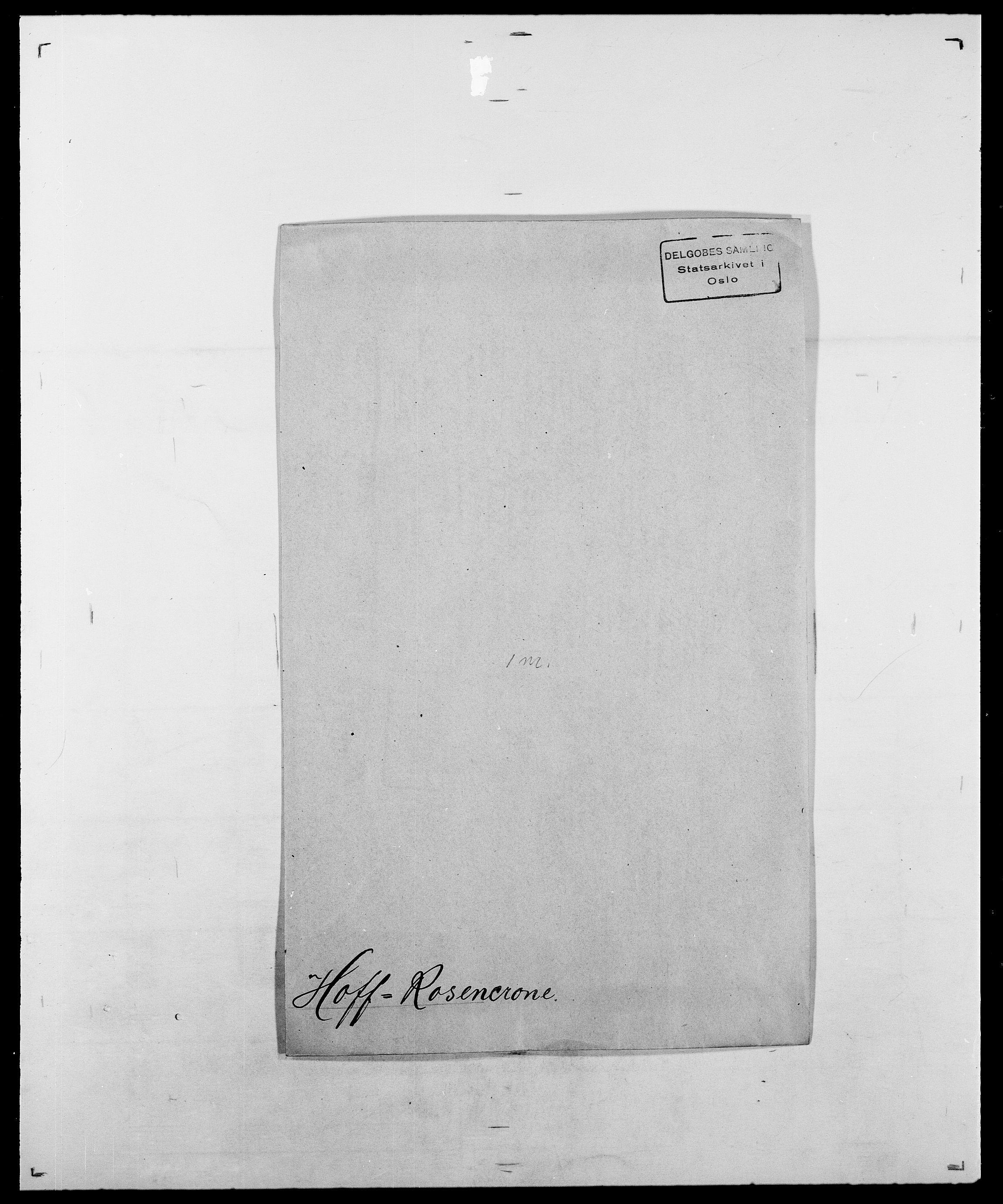 SAO, Delgobe, Charles Antoine - samling, D/Da/L0018: Hoch - Howert, s. 98