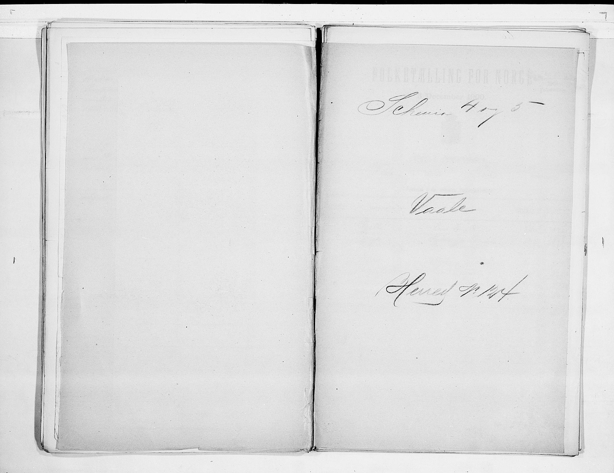 RA, Folketelling 1900 for 0716 Våle herred, 1900, s. 1