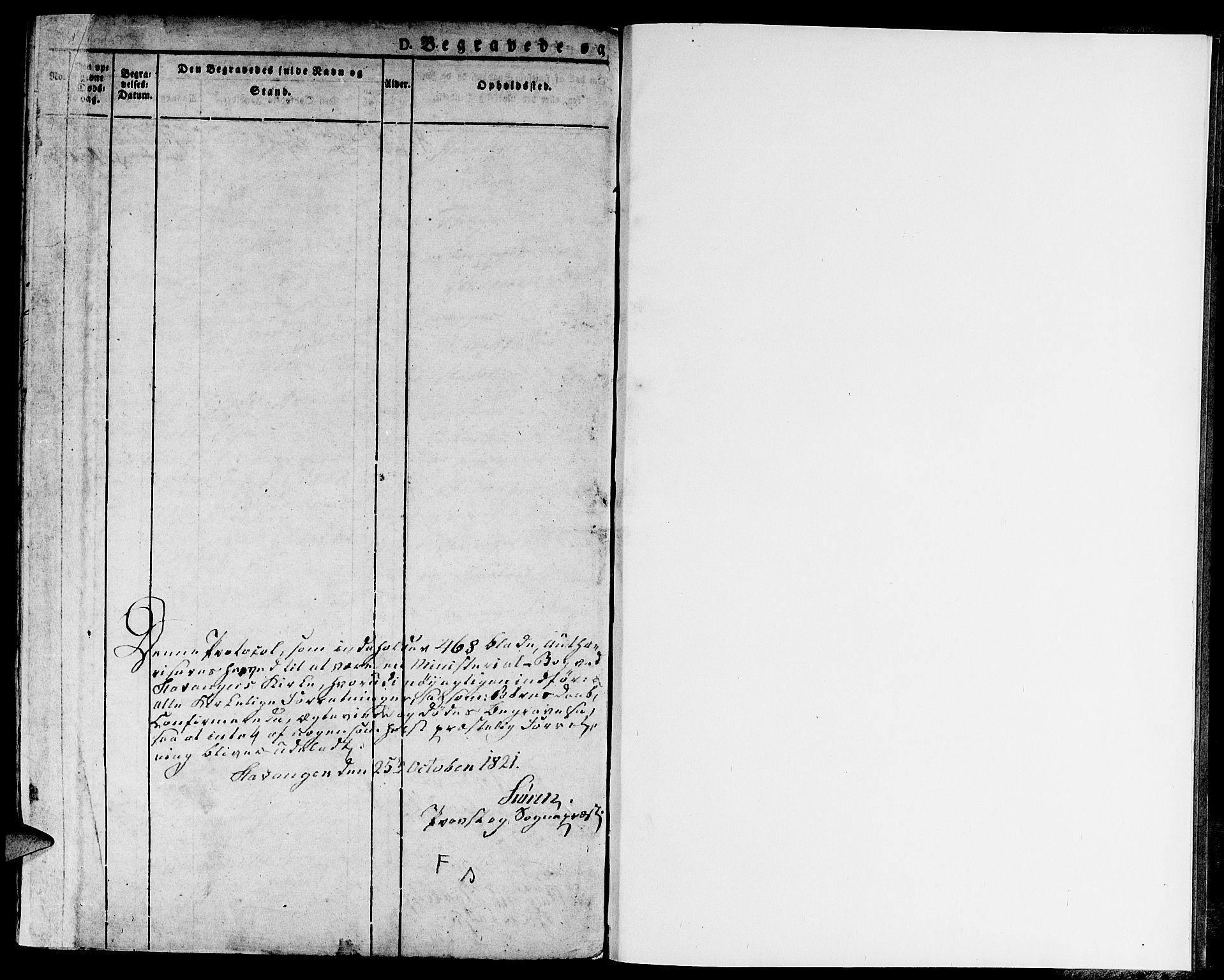 SAST, Domkirken sokneprestkontor, 30/30BA/L0009: Ministerialbok nr. A 9, 1821-1832