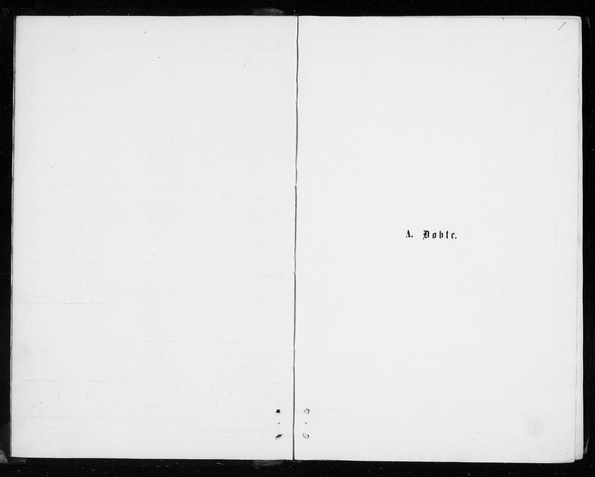 SATØ, Tromsø sokneprestkontor/stiftsprosti/domprosti, G/Gb/L0008klokker: Klokkerbok nr. 8, 1875-1879, s. 1