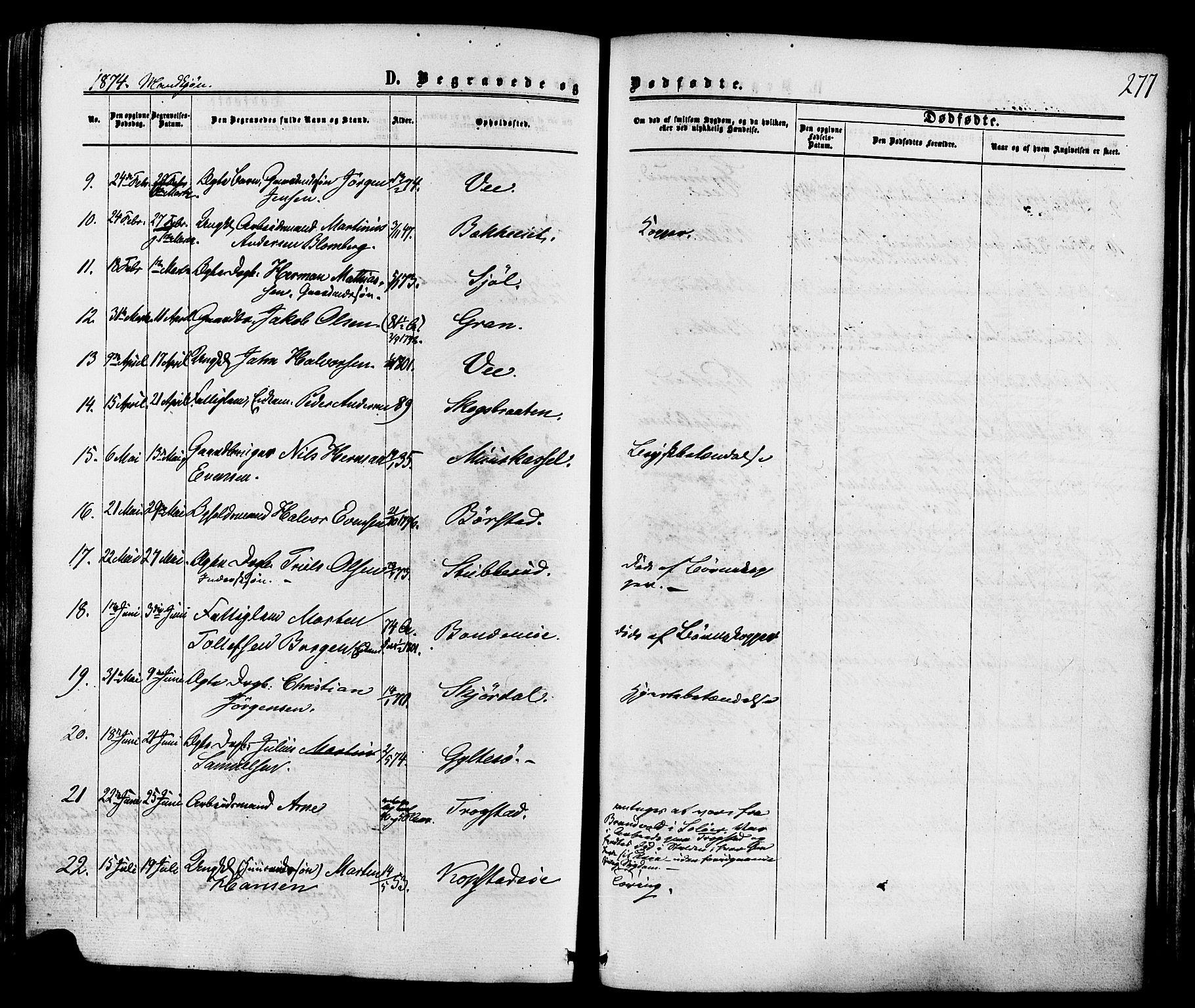 SAKO, Sande Kirkebøker, F/Fa/L0005: Ministerialbok nr. 5, 1865-1877, s. 277