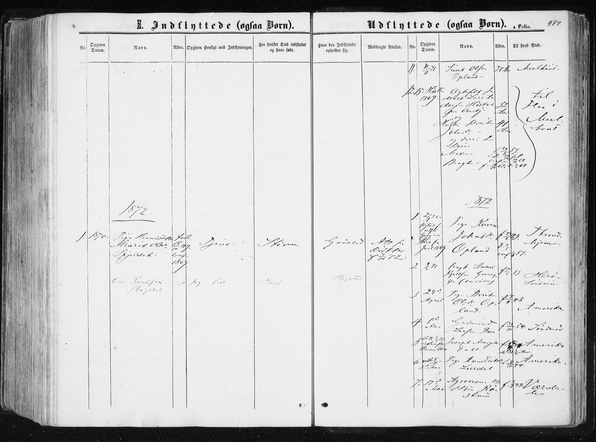 SAT, Ministerialprotokoller, klokkerbøker og fødselsregistre - Sør-Trøndelag, 612/L0377: Ministerialbok nr. 612A09, 1859-1877, s. 472