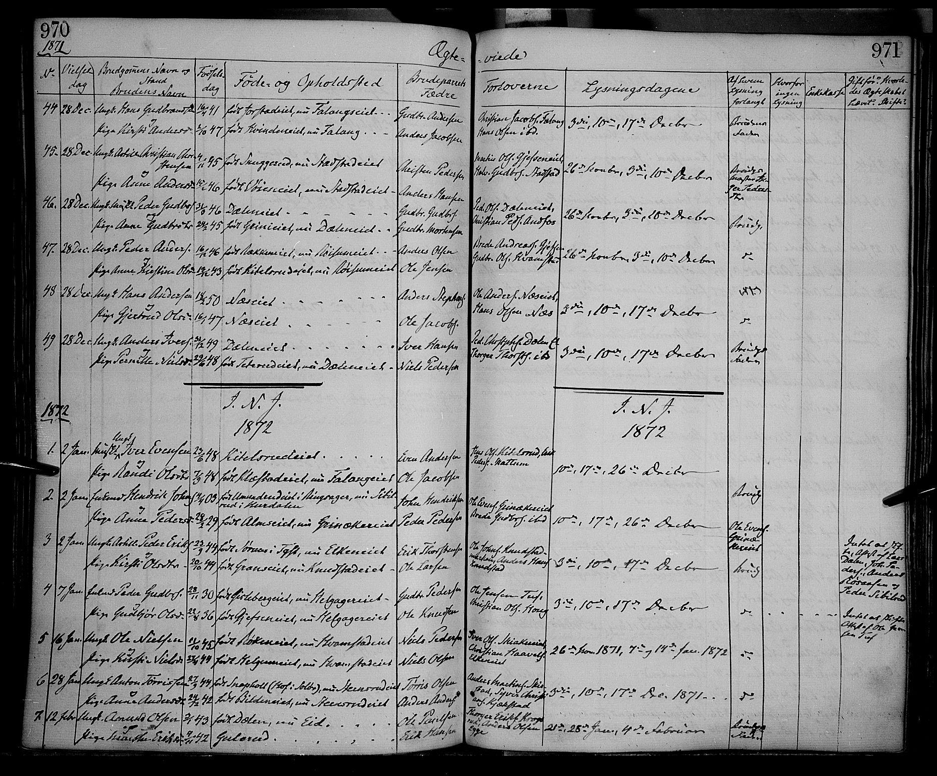 SAH, Gran prestekontor, Ministerialbok nr. 12, 1856-1874, s. 970-971