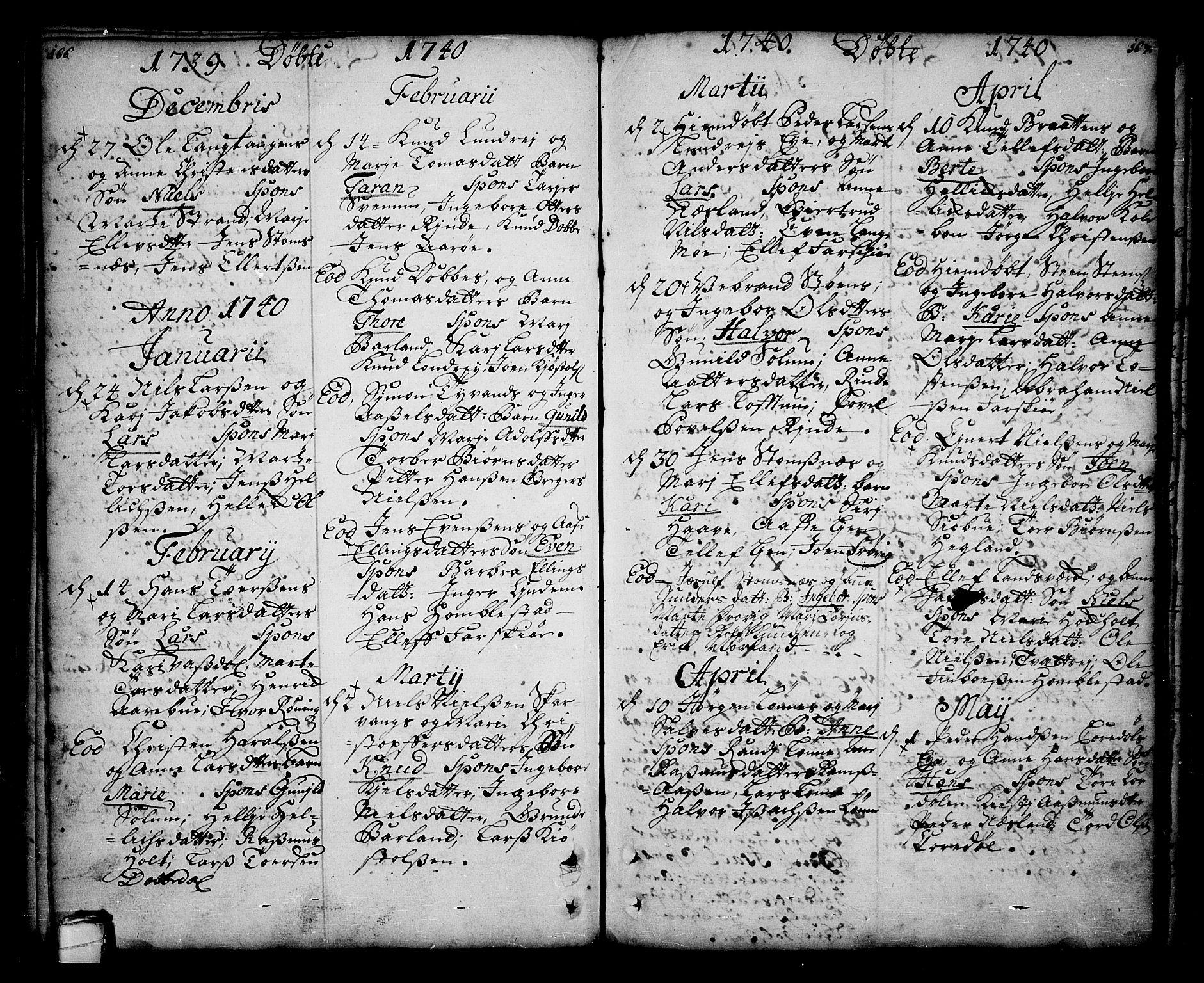 SAKO, Sannidal kirkebøker, F/Fa/L0001: Ministerialbok nr. 1, 1702-1766, s. 166-167