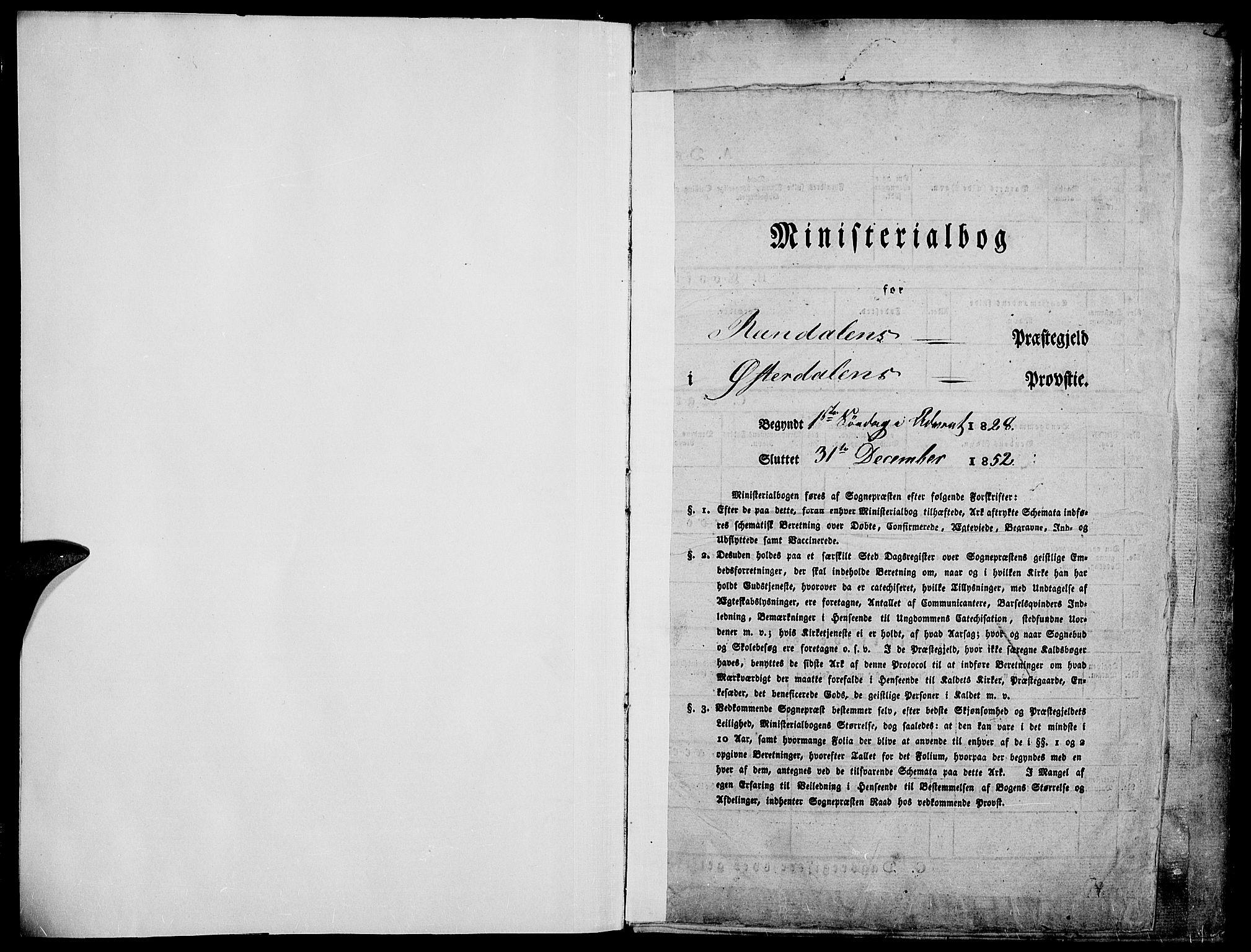 SAH, Rendalen prestekontor, H/Ha/Haa/L0004: Ministerialbok nr. 4, 1829-1852