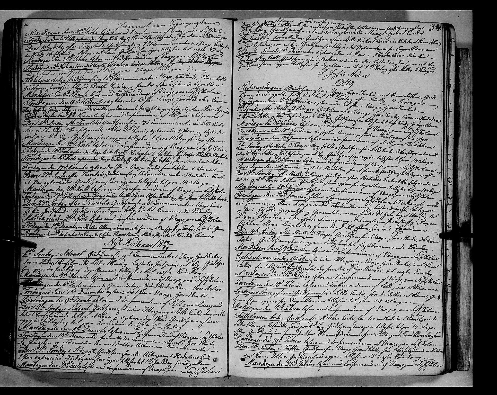 SAH, Vågå prestekontor, Ministerialbok nr. 5 /1, 1842-1856, s. 349