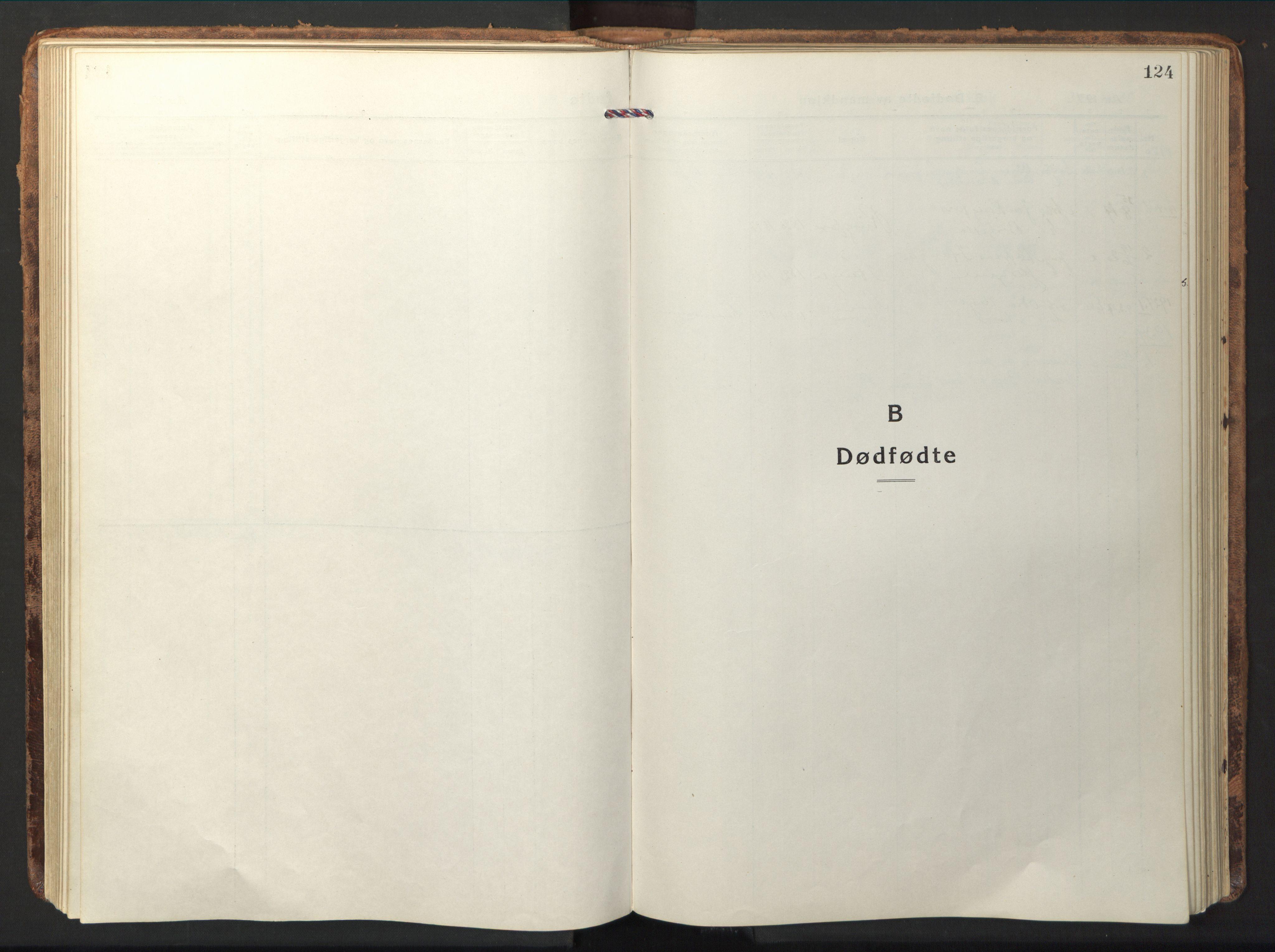 SAT, Ministerialprotokoller, klokkerbøker og fødselsregistre - Nord-Trøndelag, 714/L0136: Klokkerbok nr. 714C05, 1918-1957, s. 124
