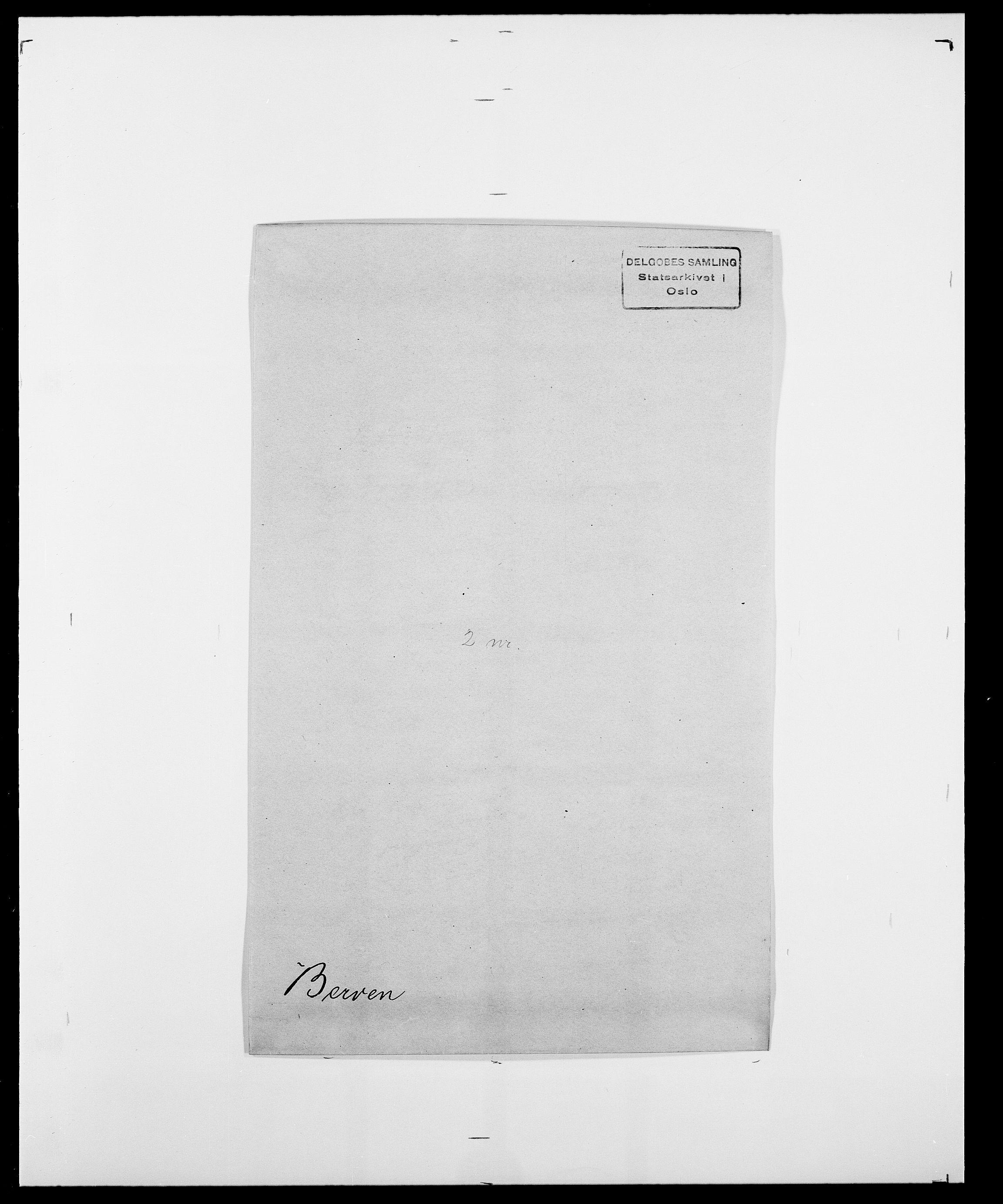 SAO, Delgobe, Charles Antoine - samling, D/Da/L0004: Bergendahl - Blære, s. 131