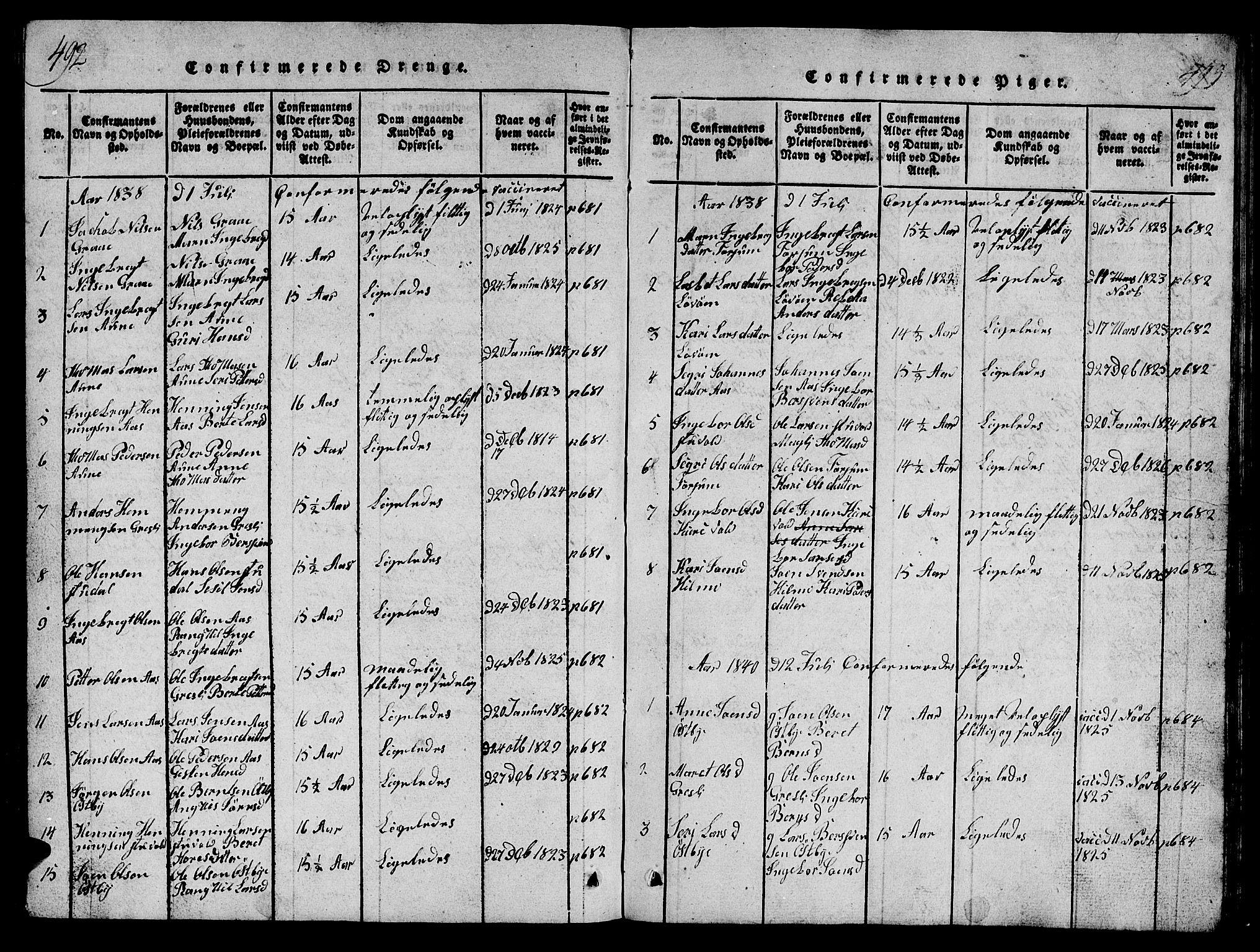 SAT, Ministerialprotokoller, klokkerbøker og fødselsregistre - Sør-Trøndelag, 698/L1164: Klokkerbok nr. 698C01, 1816-1861, s. 492-493