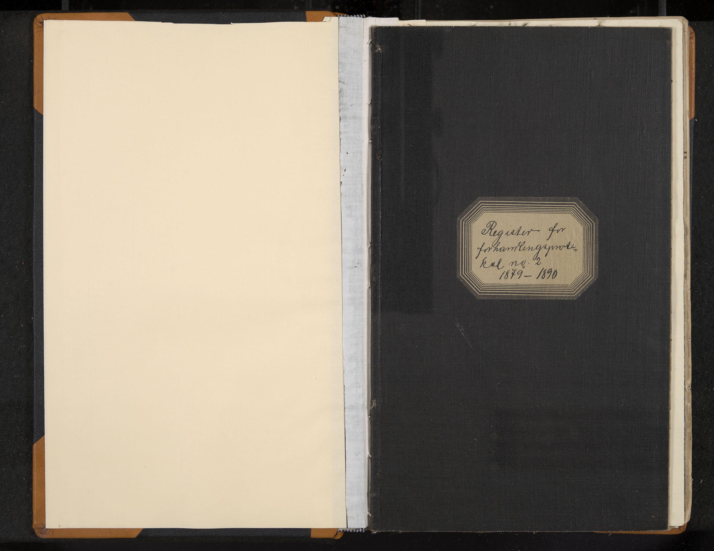 IKAK, Seljord formannskap, Aa/L0002: Møtebok med register, 1879-1890