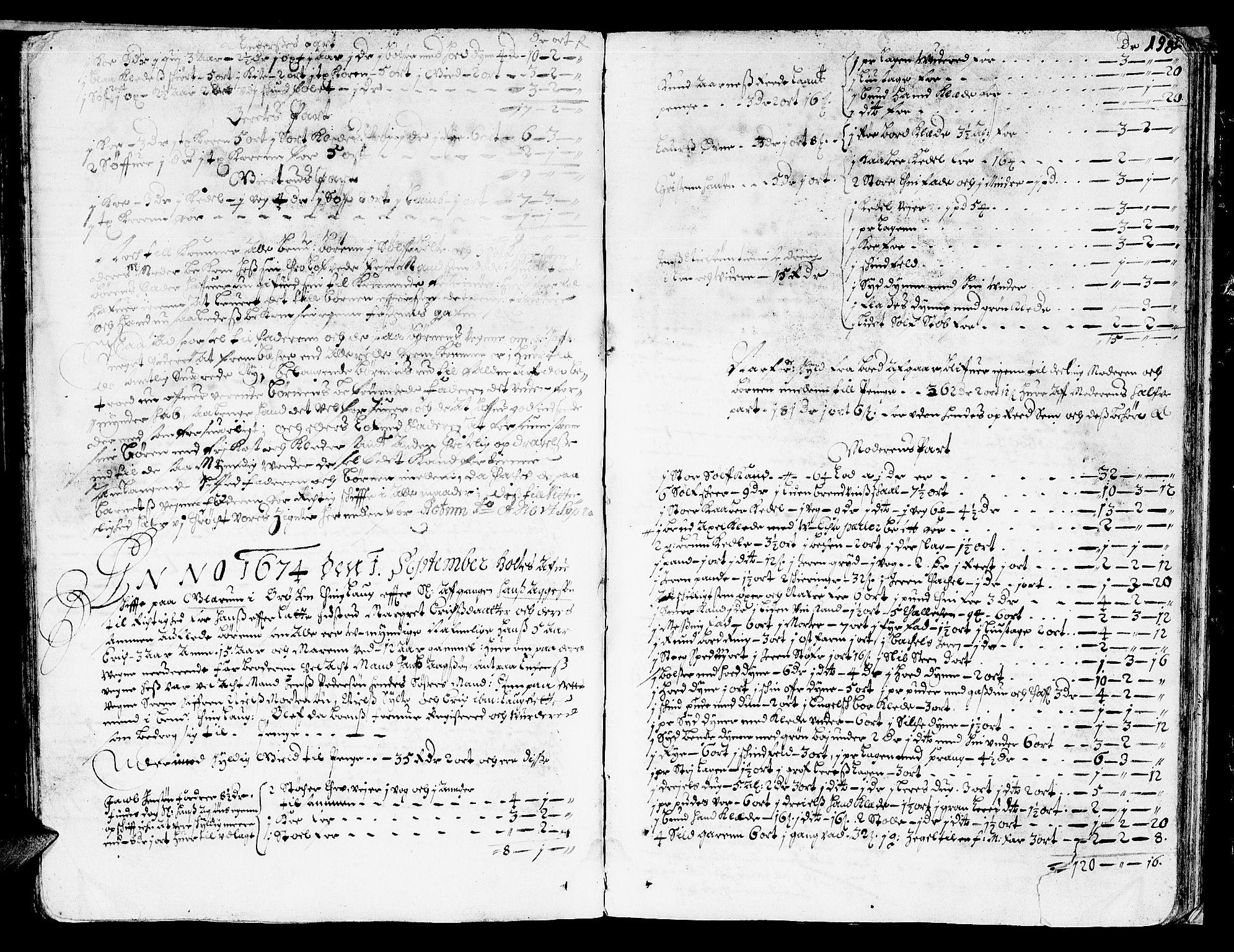 SAT, Nordmøre sorenskriveri, 3/3A/L0001: Skifteprotokoll nr. 1, 1668-1676, s. 198