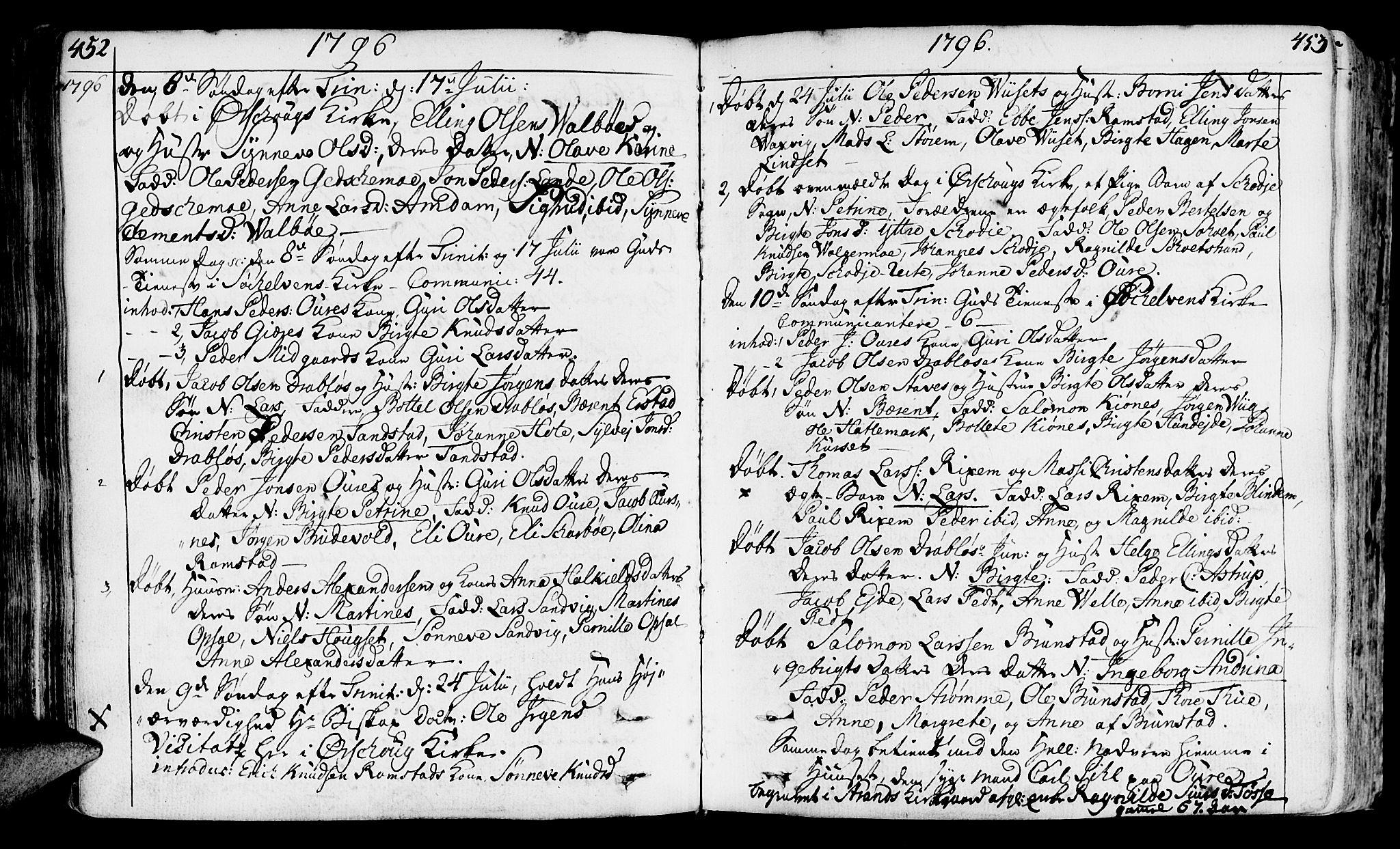SAT, Ministerialprotokoller, klokkerbøker og fødselsregistre - Møre og Romsdal, 522/L0308: Ministerialbok nr. 522A03, 1773-1809, s. 452-453