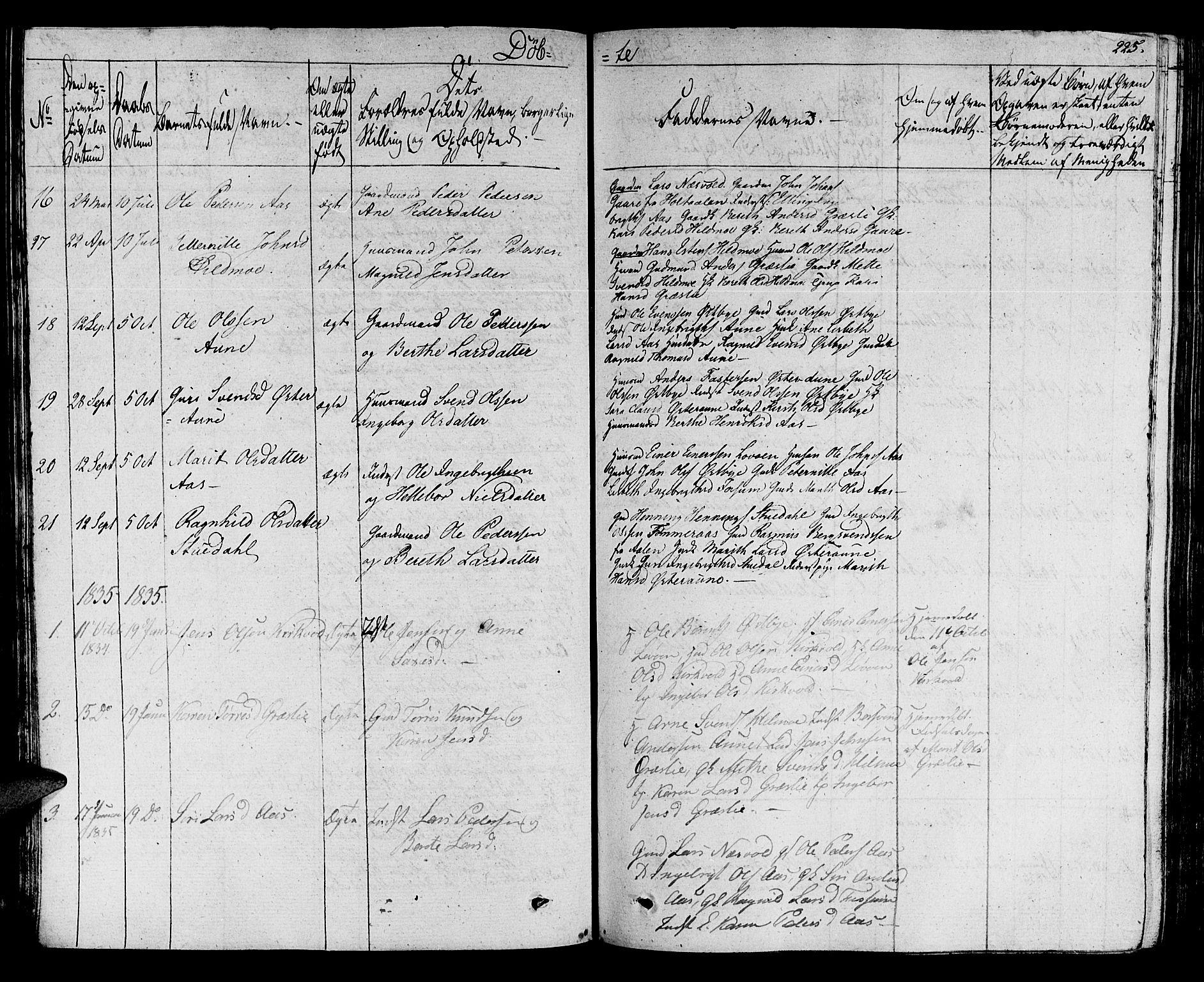 SAT, Ministerialprotokoller, klokkerbøker og fødselsregistre - Sør-Trøndelag, 695/L1144: Ministerialbok nr. 695A05 /2, 1824-1842, s. 225