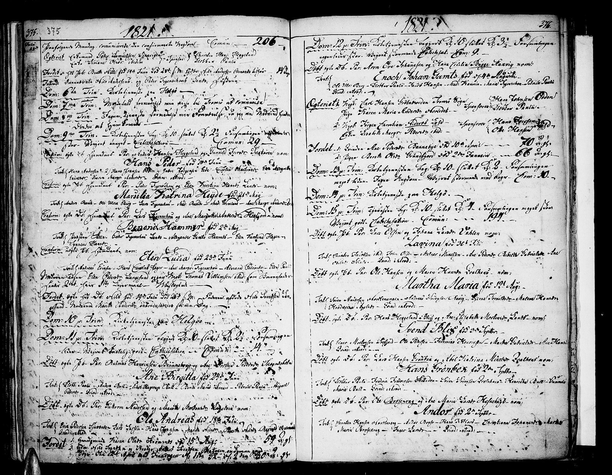 SATØ, Karlsøy sokneprestembete, H/Ha/Haa/L0001kirke: Ministerialbok nr. 1, 1775-1823, s. 375-376