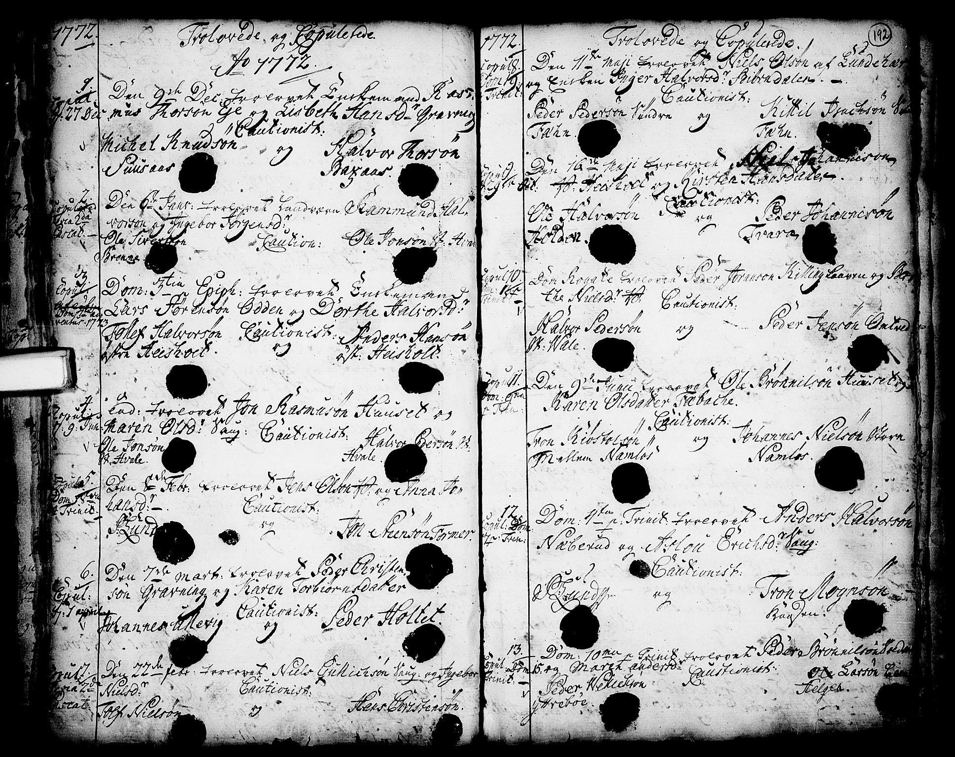 SAKO, Holla kirkebøker, F/Fa/L0001: Ministerialbok nr. 1, 1717-1779, s. 192
