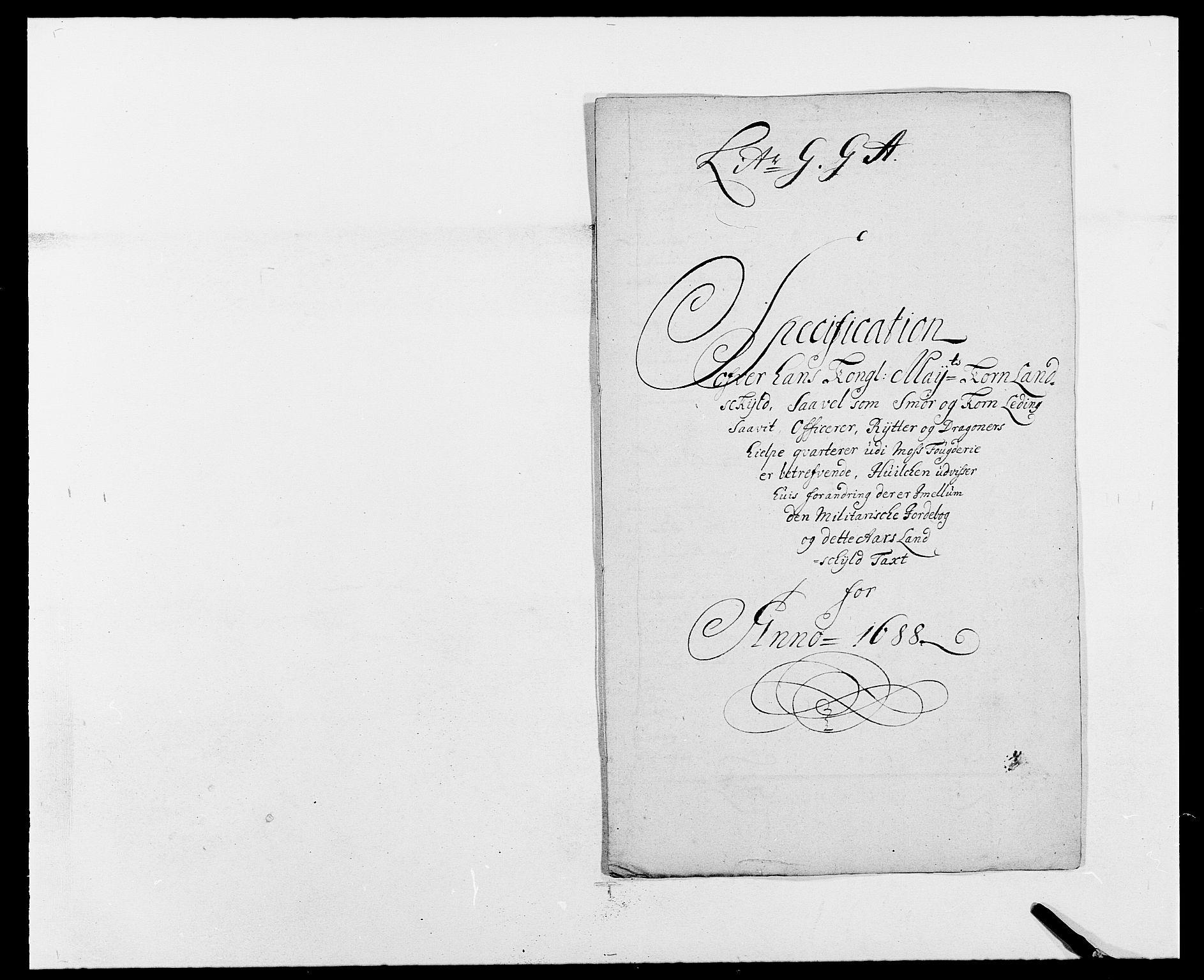 RA, Rentekammeret inntil 1814, Reviderte regnskaper, Fogderegnskap, R02/L0106: Fogderegnskap Moss og Verne kloster, 1688-1691, s. 140