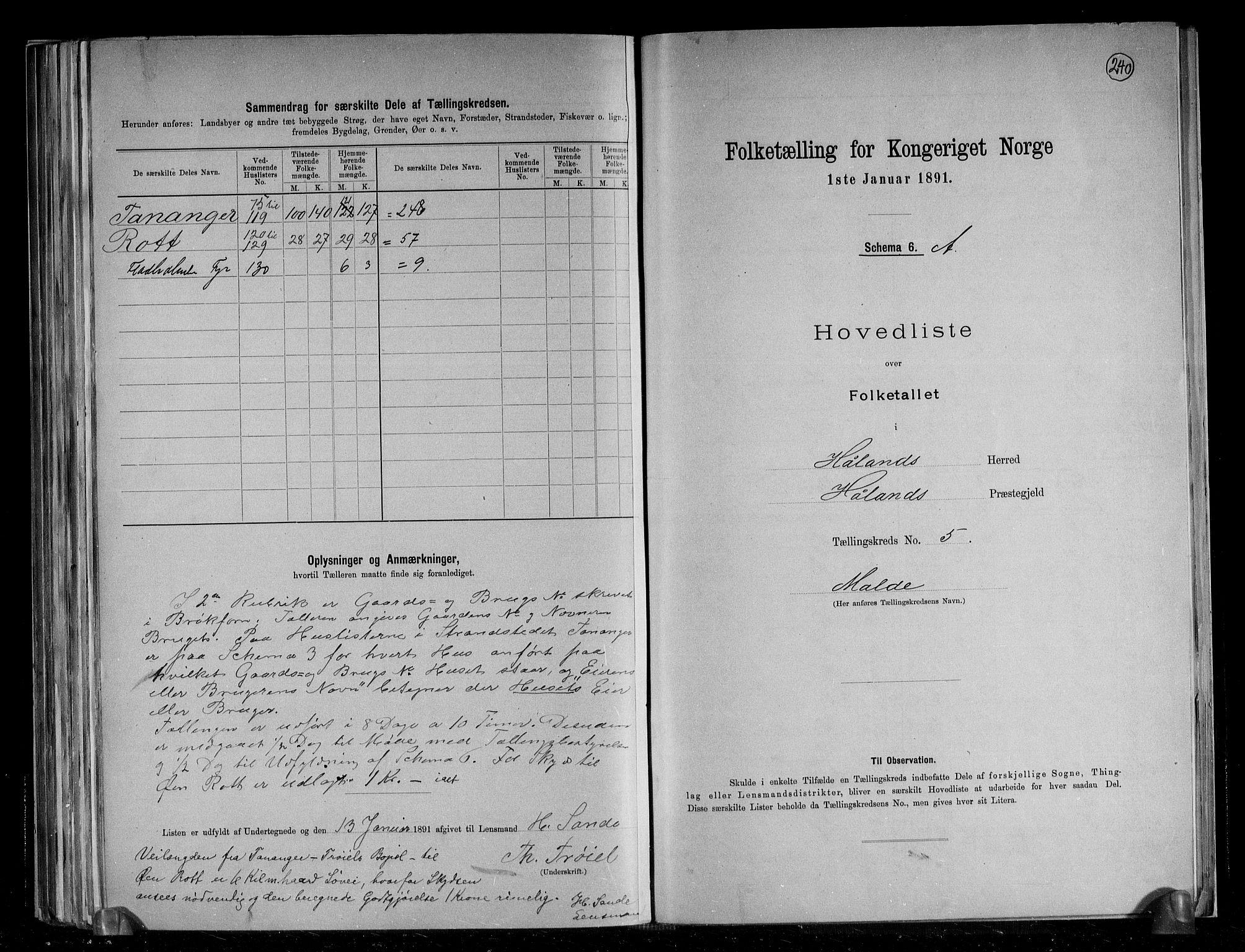RA, Folketelling 1891 for 1124 Haaland herred, 1891, s. 18