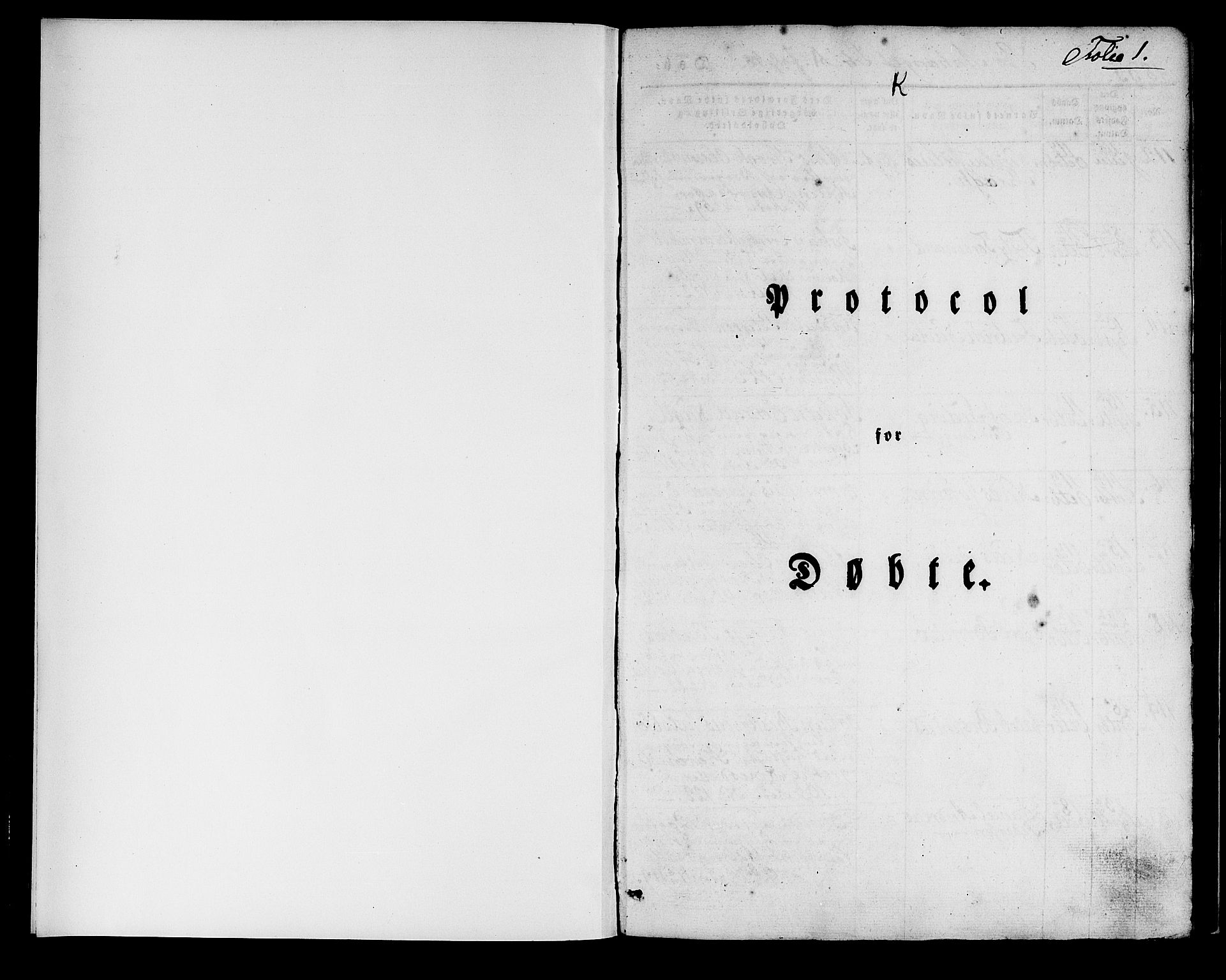 SAB, Domkirken Sokneprestembete, H/Haa/L0015: Ministerialbok nr. A 14, 1835-1840, s. 1