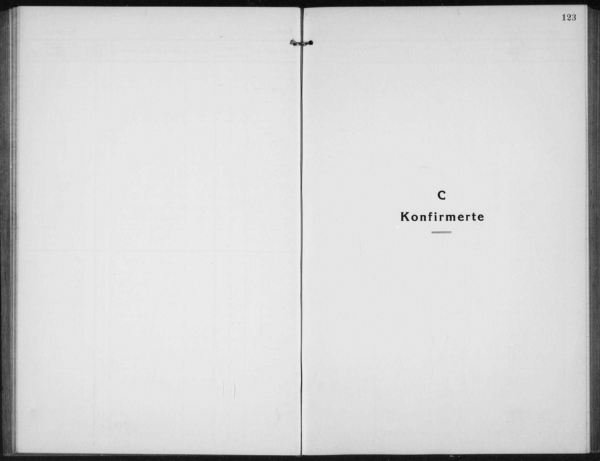 SAH, Vardal prestekontor, H/Ha/Hab/L0017: Klokkerbok nr. 17, 1922-1941, s. 123
