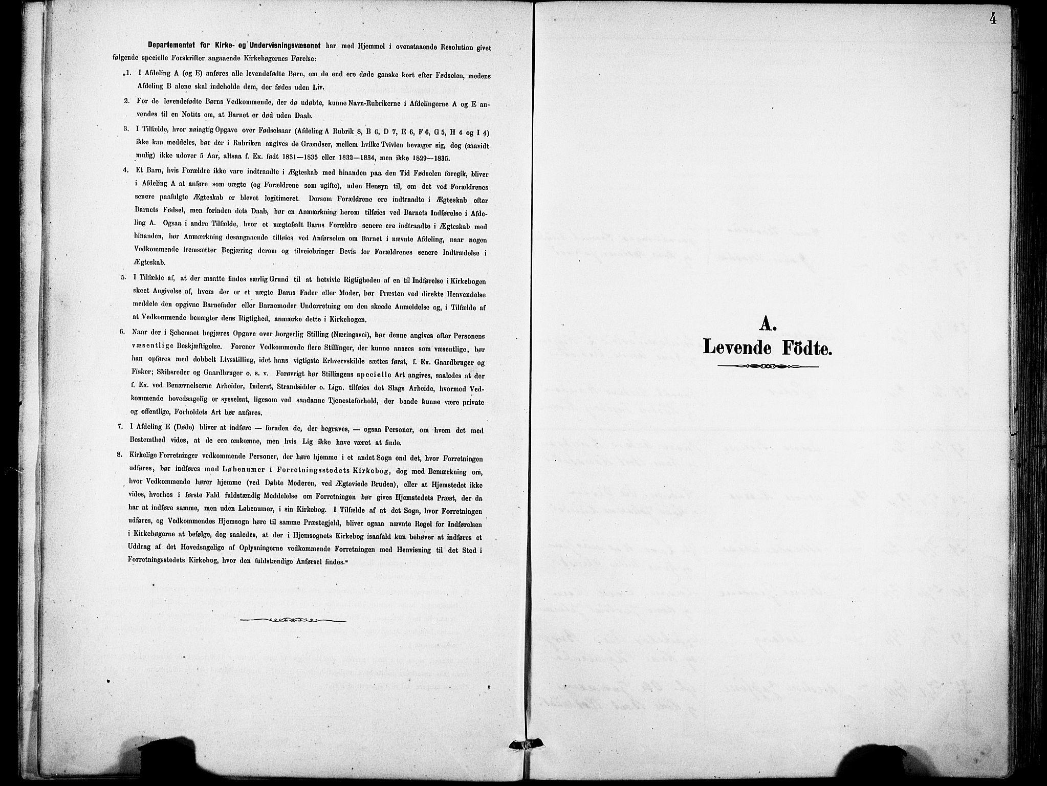 SAB, Eid Sokneprestembete, H/Hab: Klokkerbok nr. B 2, 1882-1907, s. 4