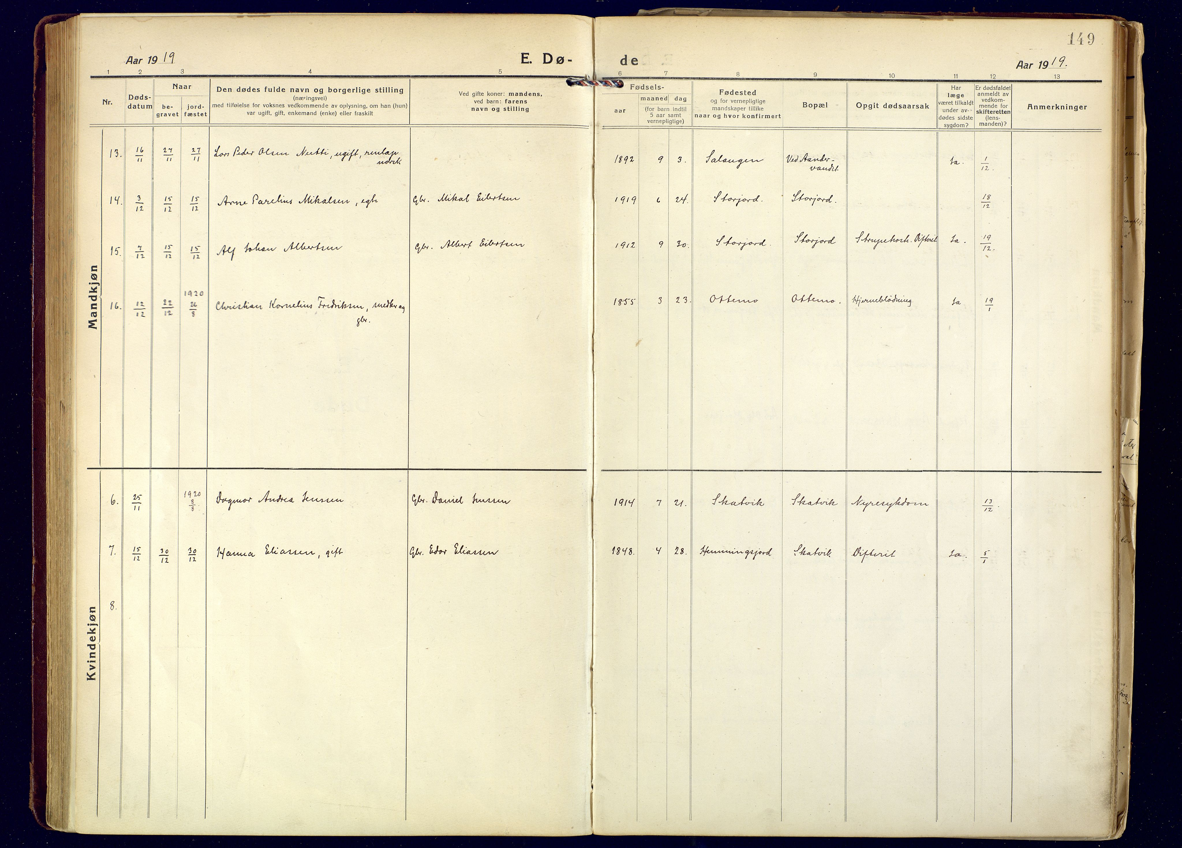 SATØ, Tranøy sokneprestkontor, I/Ia/Iaa: Ministerialbok nr. 16, 1919-1932, s. 149