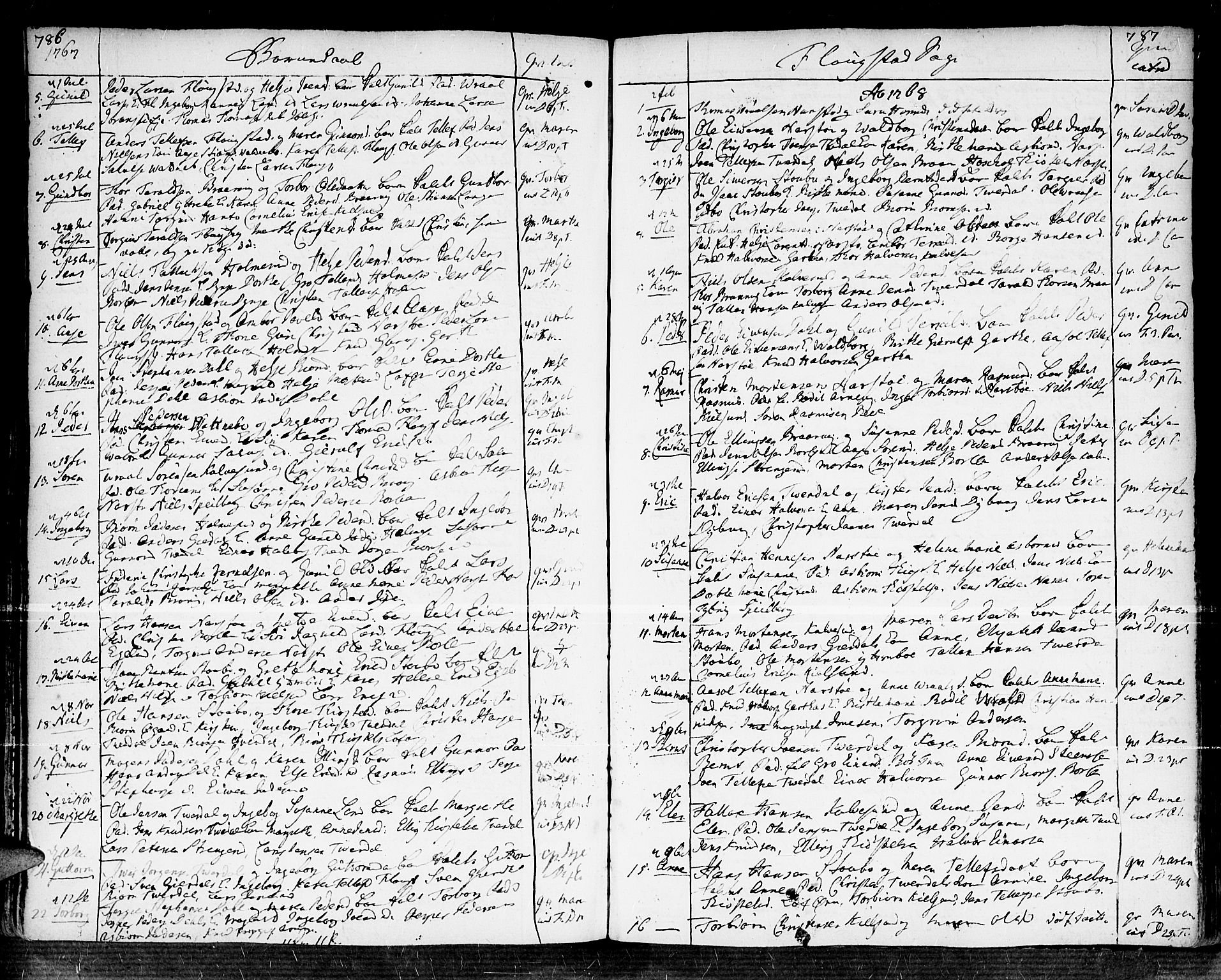 SAK, Dypvåg sokneprestkontor, F/Fa/Faa/L0001: Ministerialbok nr. A 1 /2, 1765-1798, s. 786-787
