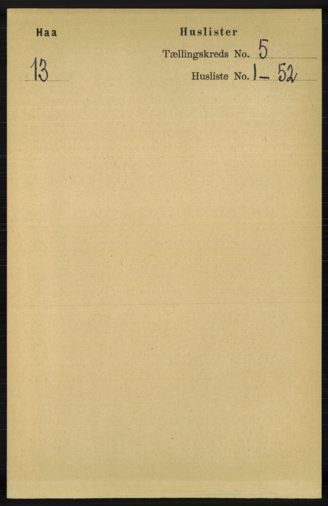 RA, Folketelling 1891 for 1119 Hå herred, 1891, s. 1286