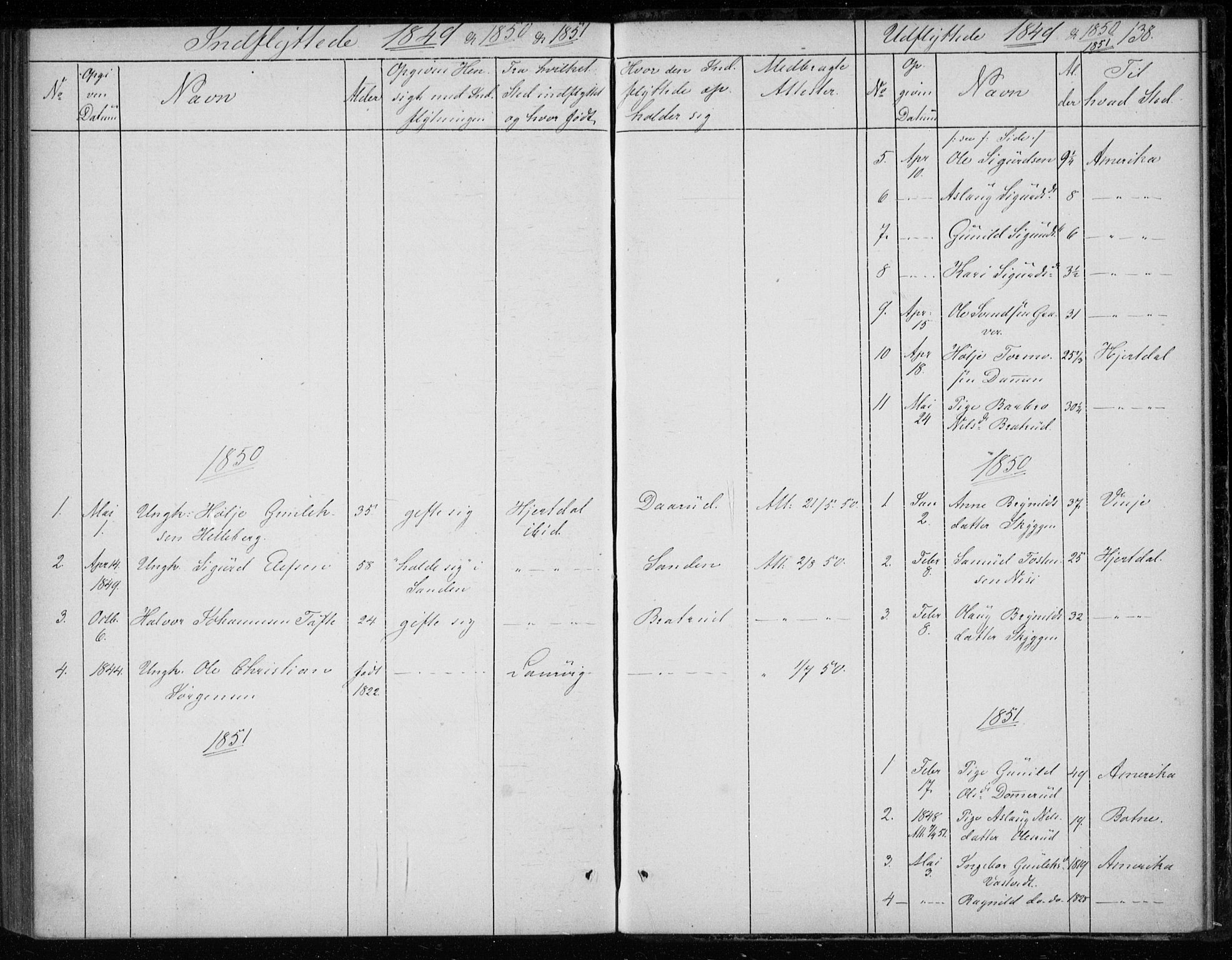 SAKO, Gransherad kirkebøker, F/Fb/L0003: Ministerialbok nr. II 3, 1844-1859, s. 138