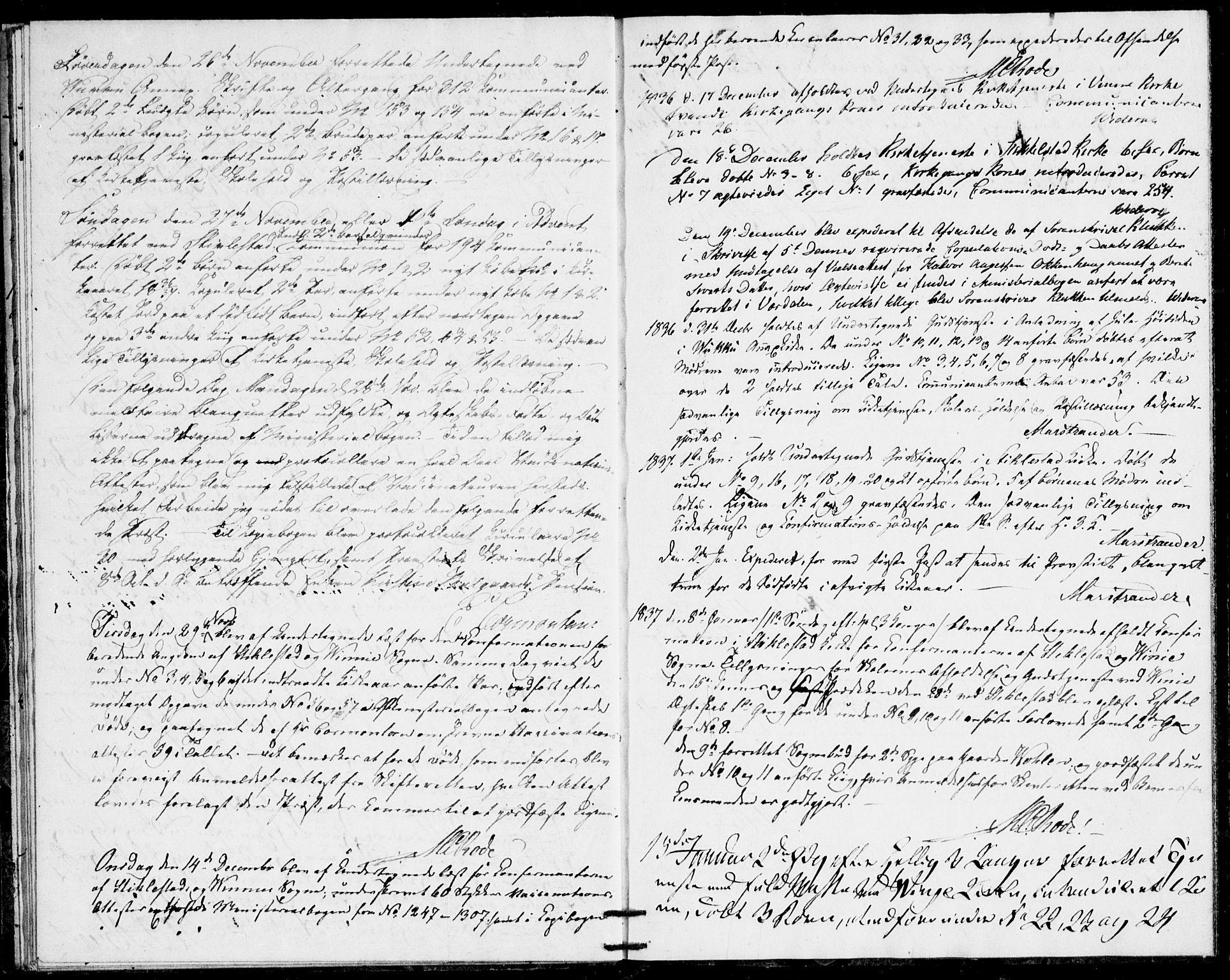 SAT, Ministerialprotokoller, klokkerbøker og fødselsregistre - Nord-Trøndelag, 723/L0245: Ministerialbok nr. 723A14, 1835-1841