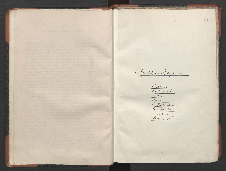 RA, Fogdenes og sorenskrivernes manntall 1664-1666, nr. 18: Gauldal fogderi, Strinda fogderi og Orkdal fogderi, 1664, s. 1
