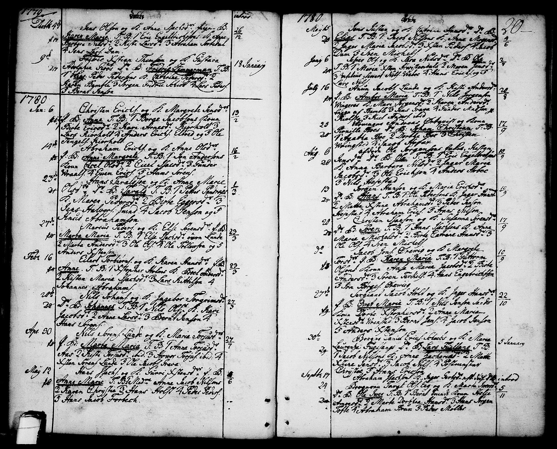 SAKO, Brevik kirkebøker, F/Fa/L0003: Ministerialbok nr. 3, 1764-1814, s. 20