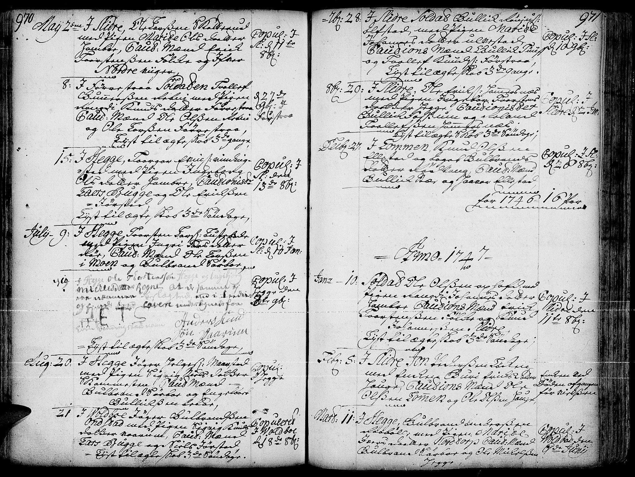 SAH, Slidre prestekontor, Ministerialbok nr. 1, 1724-1814, s. 970-971