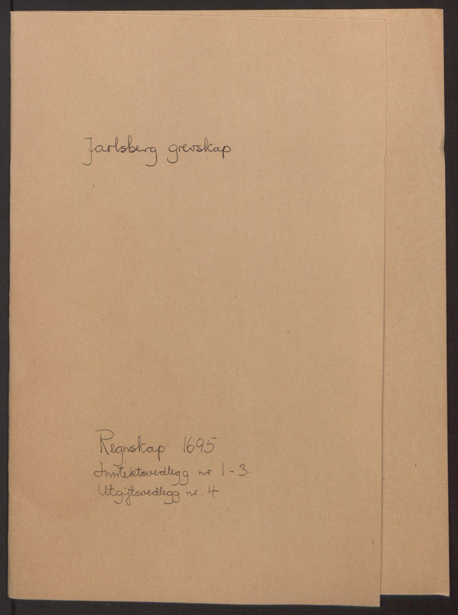 RA, Rentekammeret inntil 1814, Reviderte regnskaper, Fogderegnskap, R32/L1867: Fogderegnskap Jarlsberg grevskap, 1694-1696, s. 130