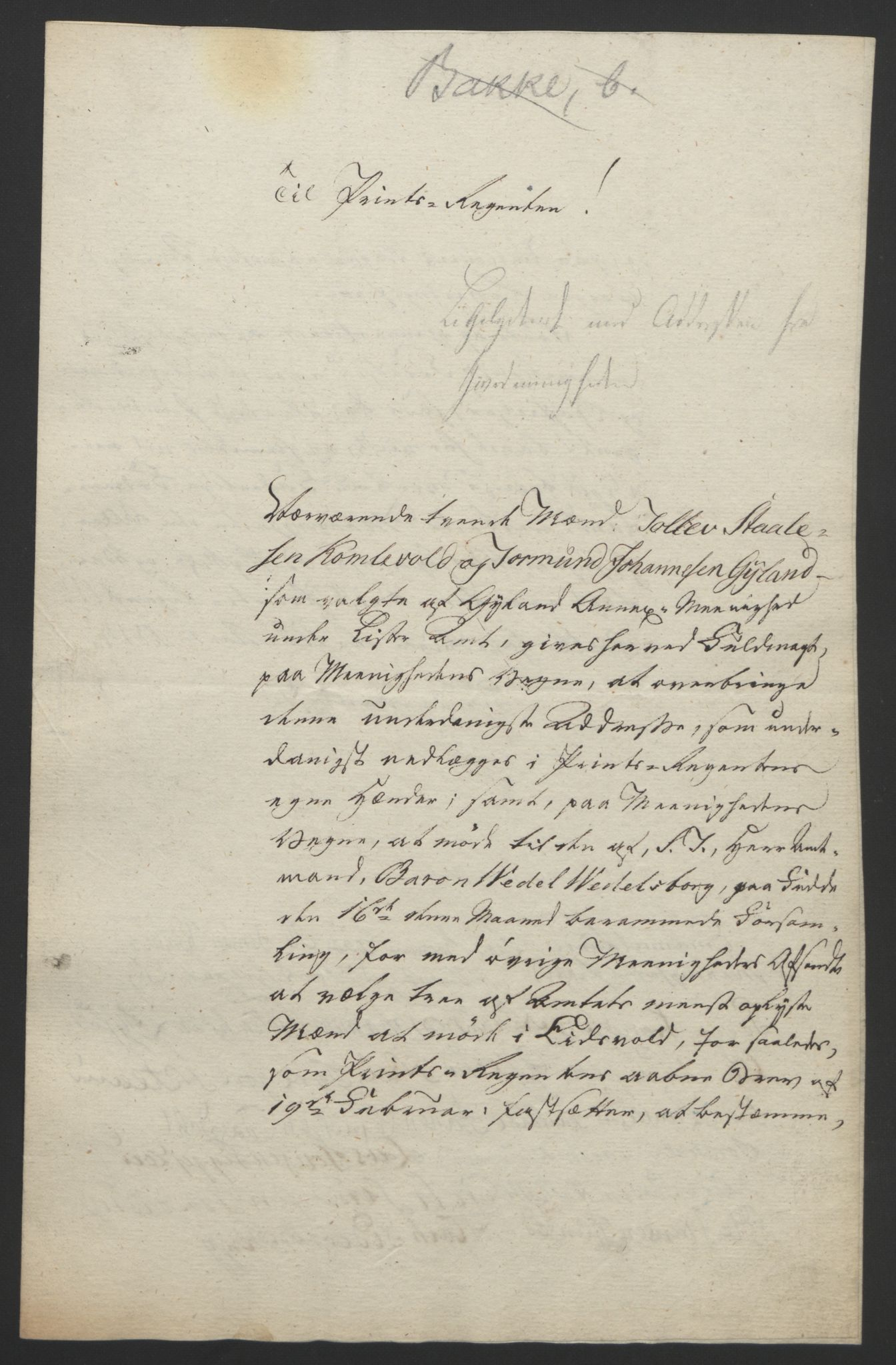 RA, Statsrådssekretariatet, D/Db/L0008: Fullmakter for Eidsvollsrepresentantene i 1814. , 1814, s. 154