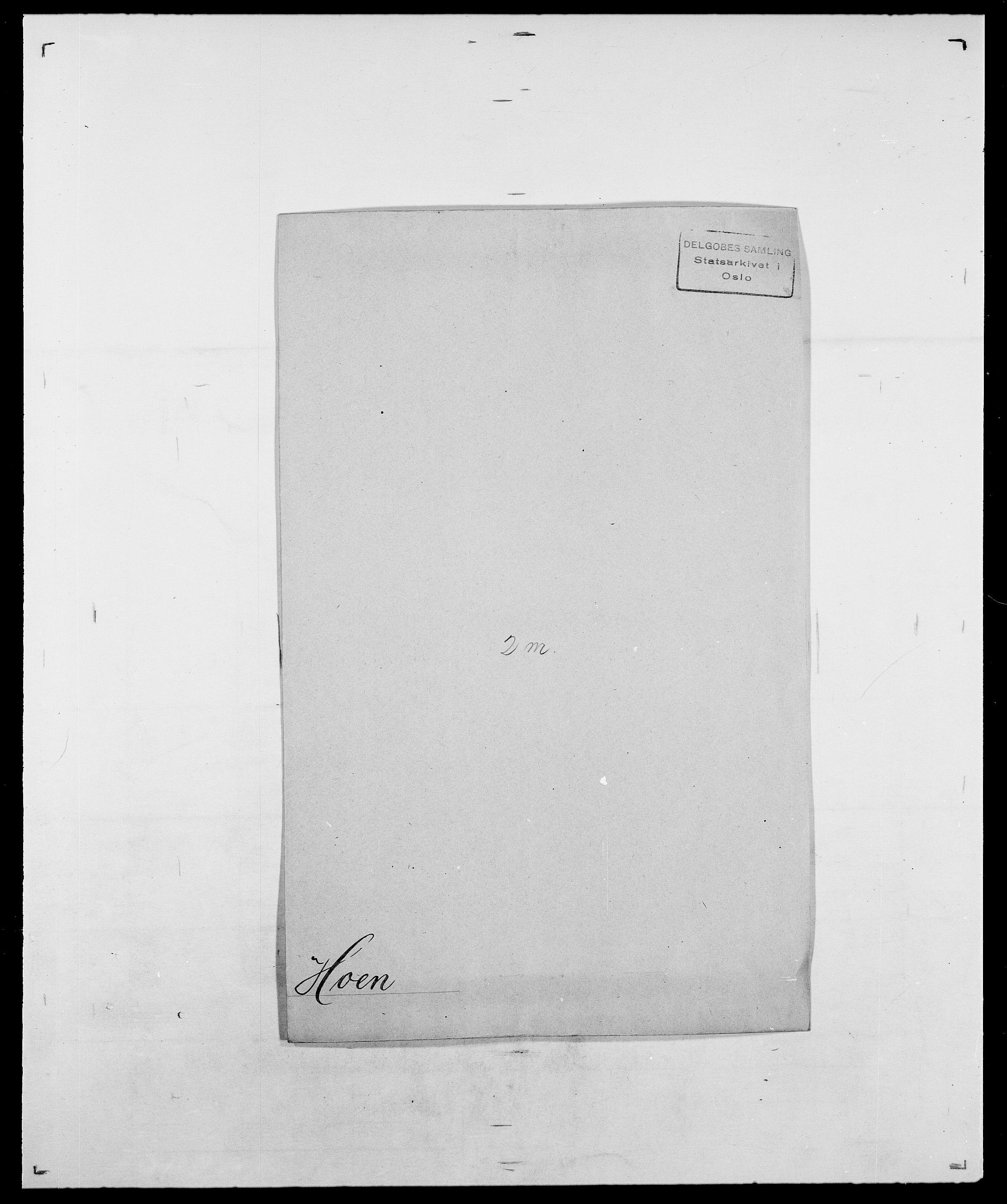 SAO, Delgobe, Charles Antoine - samling, D/Da/L0018: Hoch - Howert, s. 26