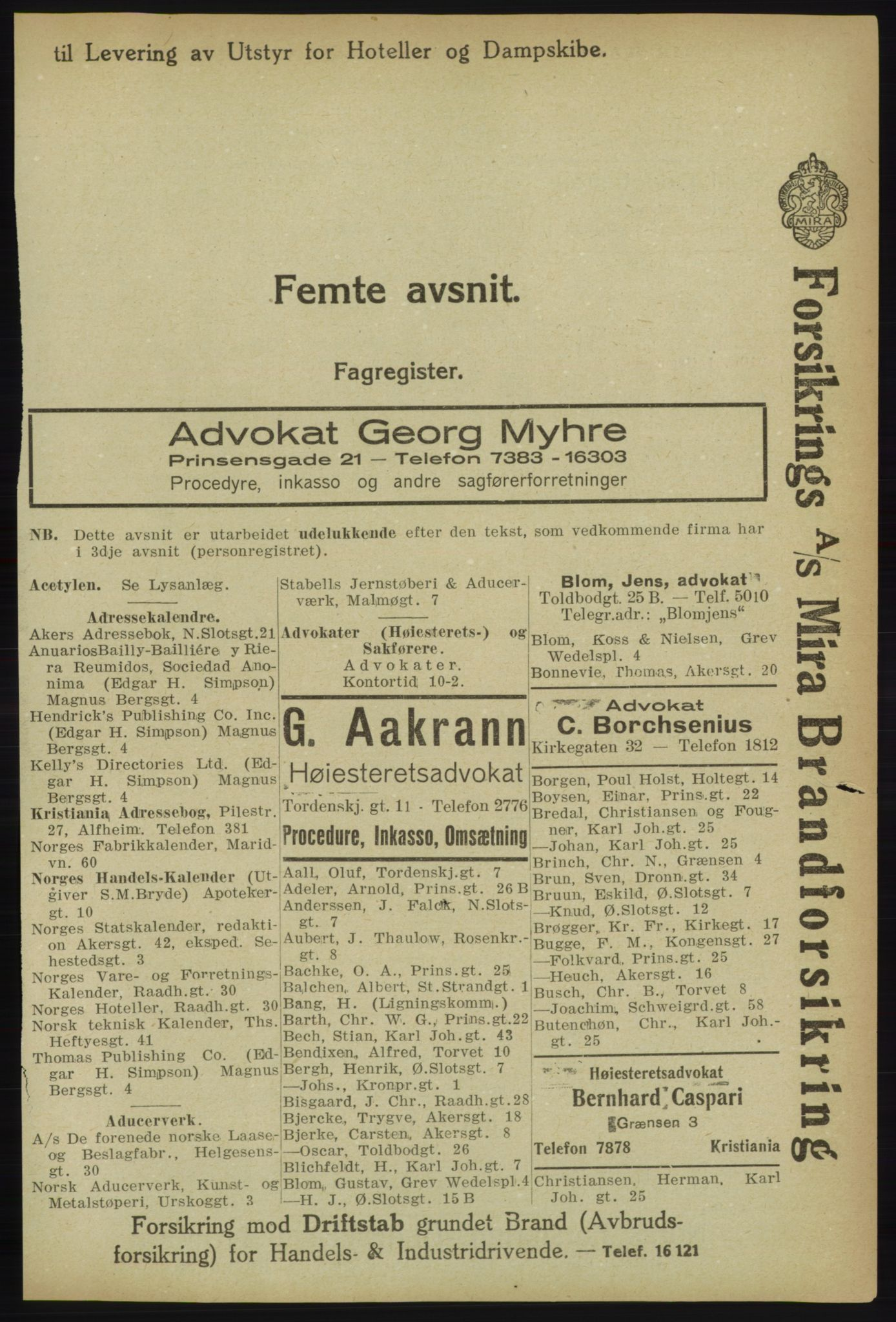 RA, Kristiania adressebok (publikasjon)*, 1918, s. 2037