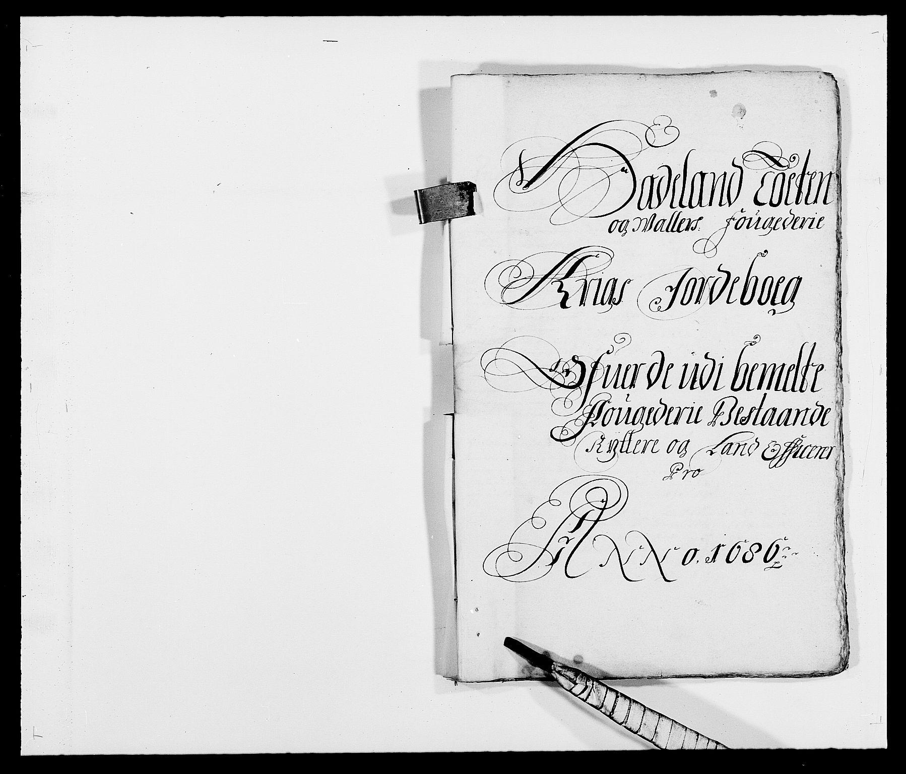 RA, Rentekammeret inntil 1814, Reviderte regnskaper, Fogderegnskap, R18/L1285: Fogderegnskap Hadeland, Toten og Valdres, 1686, s. 261