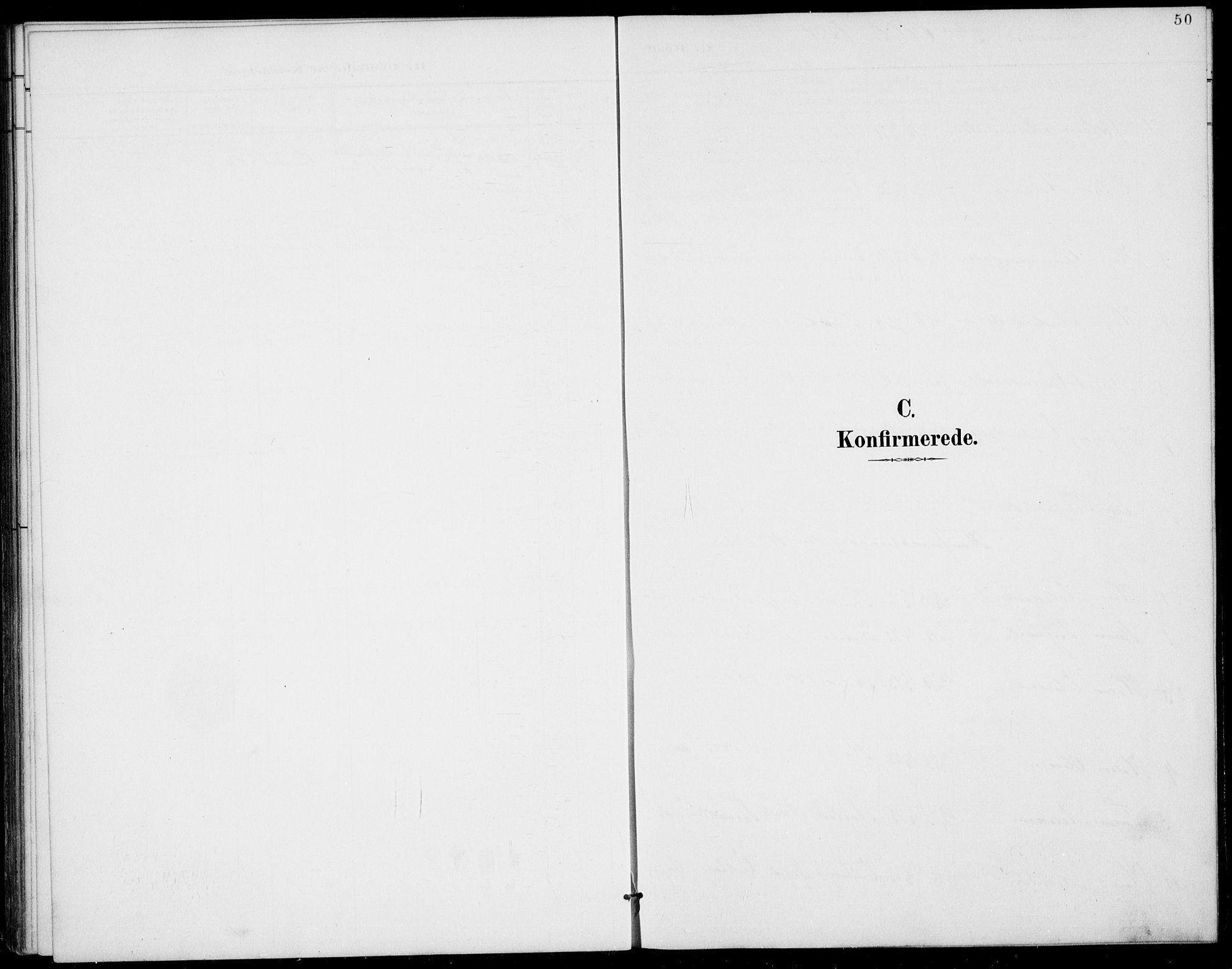 SAKO, Rauland kirkebøker, G/Gb/L0002: Klokkerbok nr. II 2, 1887-1937, s. 50