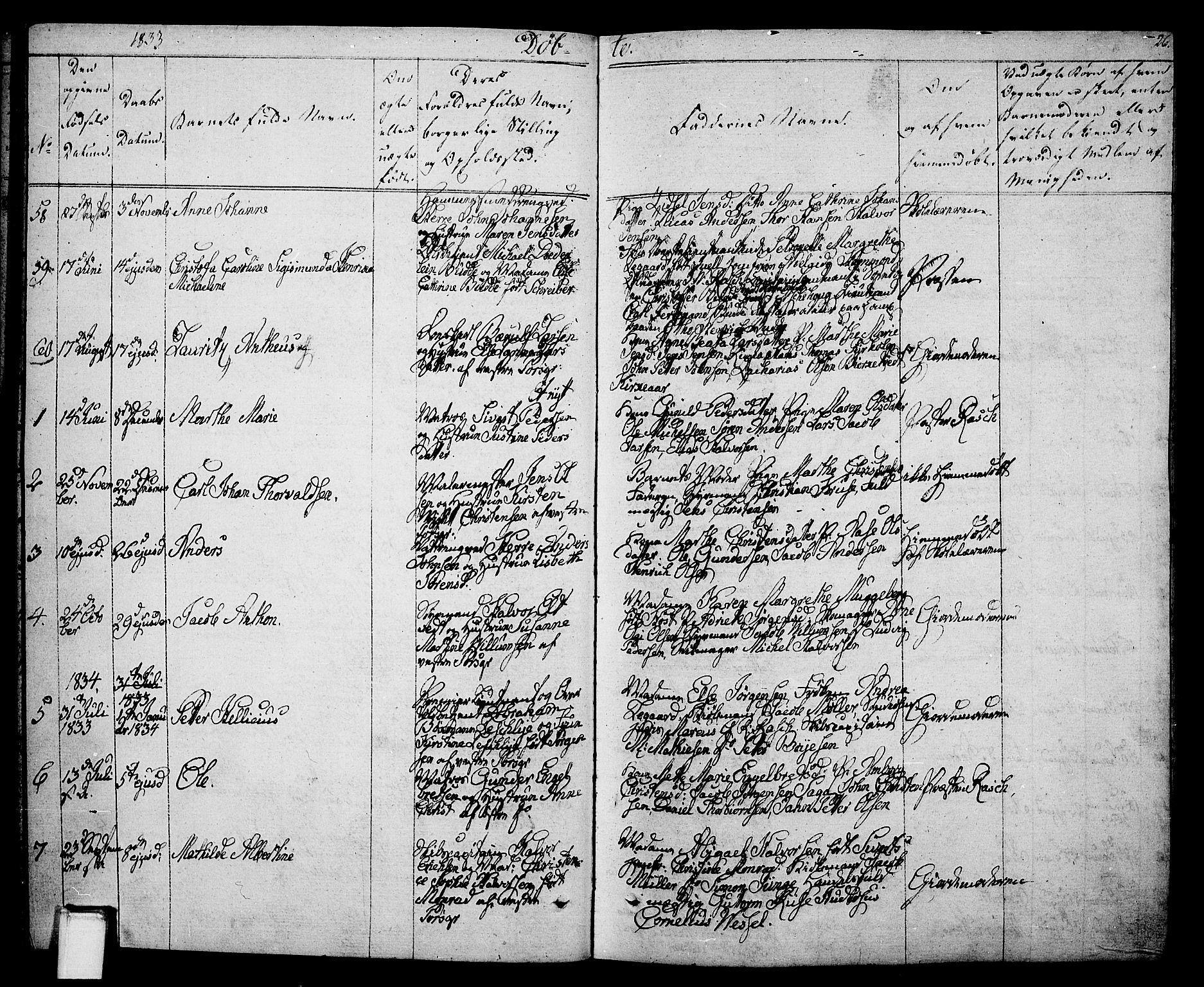 SAKO, Porsgrunn kirkebøker , F/Fa/L0005: Ministerialbok nr. 5, 1828-1840, s. 26