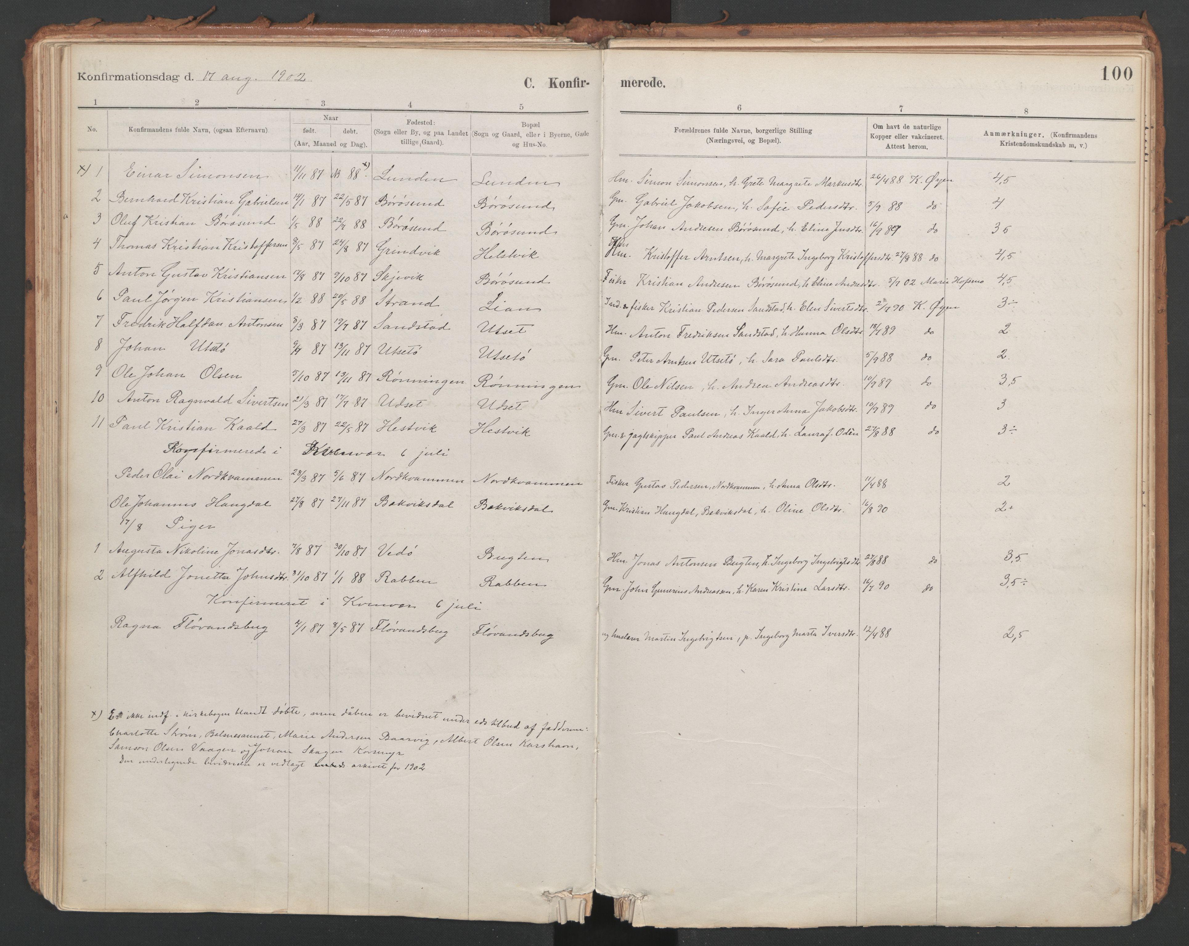 SAT, Ministerialprotokoller, klokkerbøker og fødselsregistre - Sør-Trøndelag, 639/L0572: Ministerialbok nr. 639A01, 1890-1920, s. 100