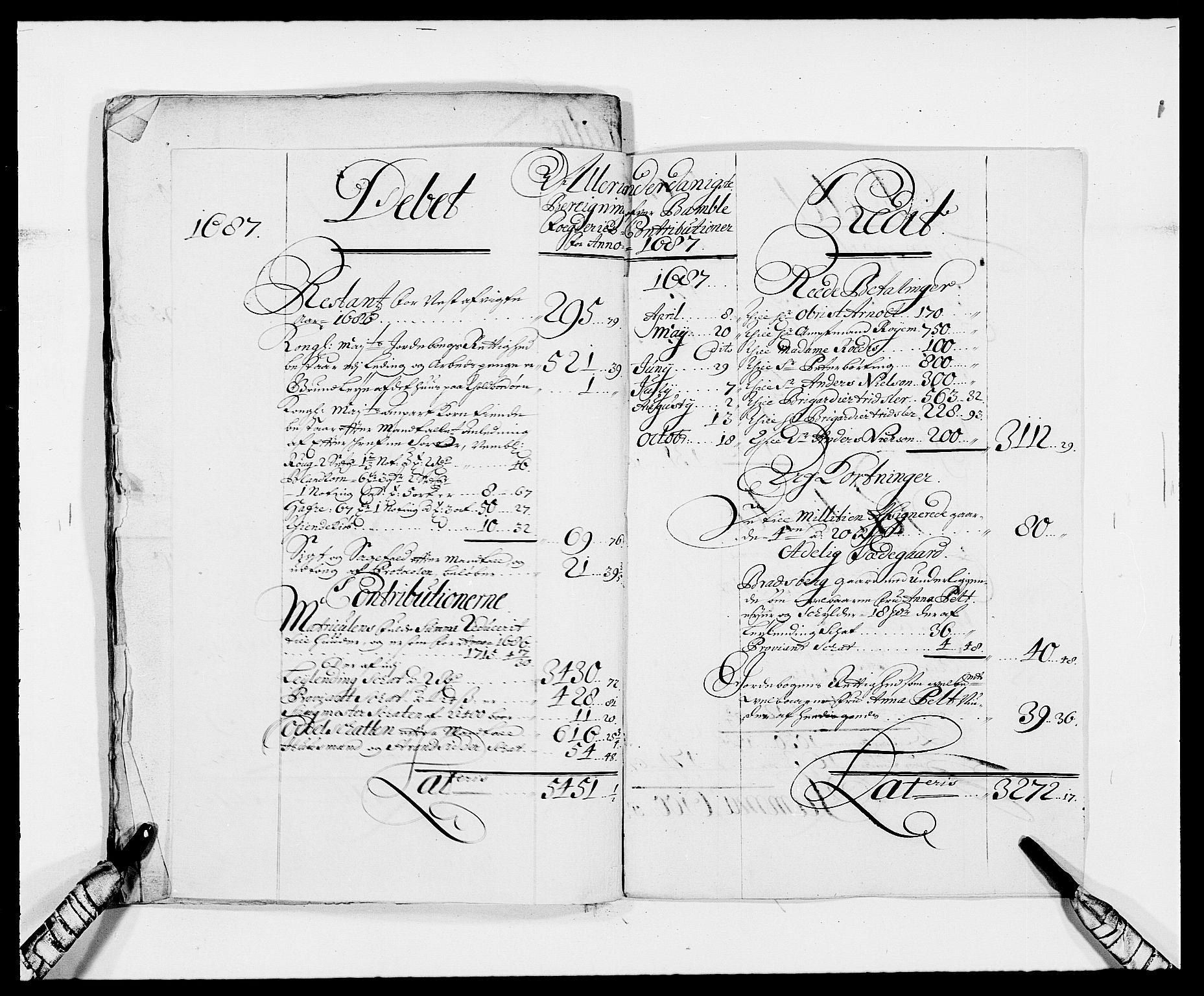RA, Rentekammeret inntil 1814, Reviderte regnskaper, Fogderegnskap, R34/L2048: Fogderegnskap Bamble, 1685-1687, s. 18