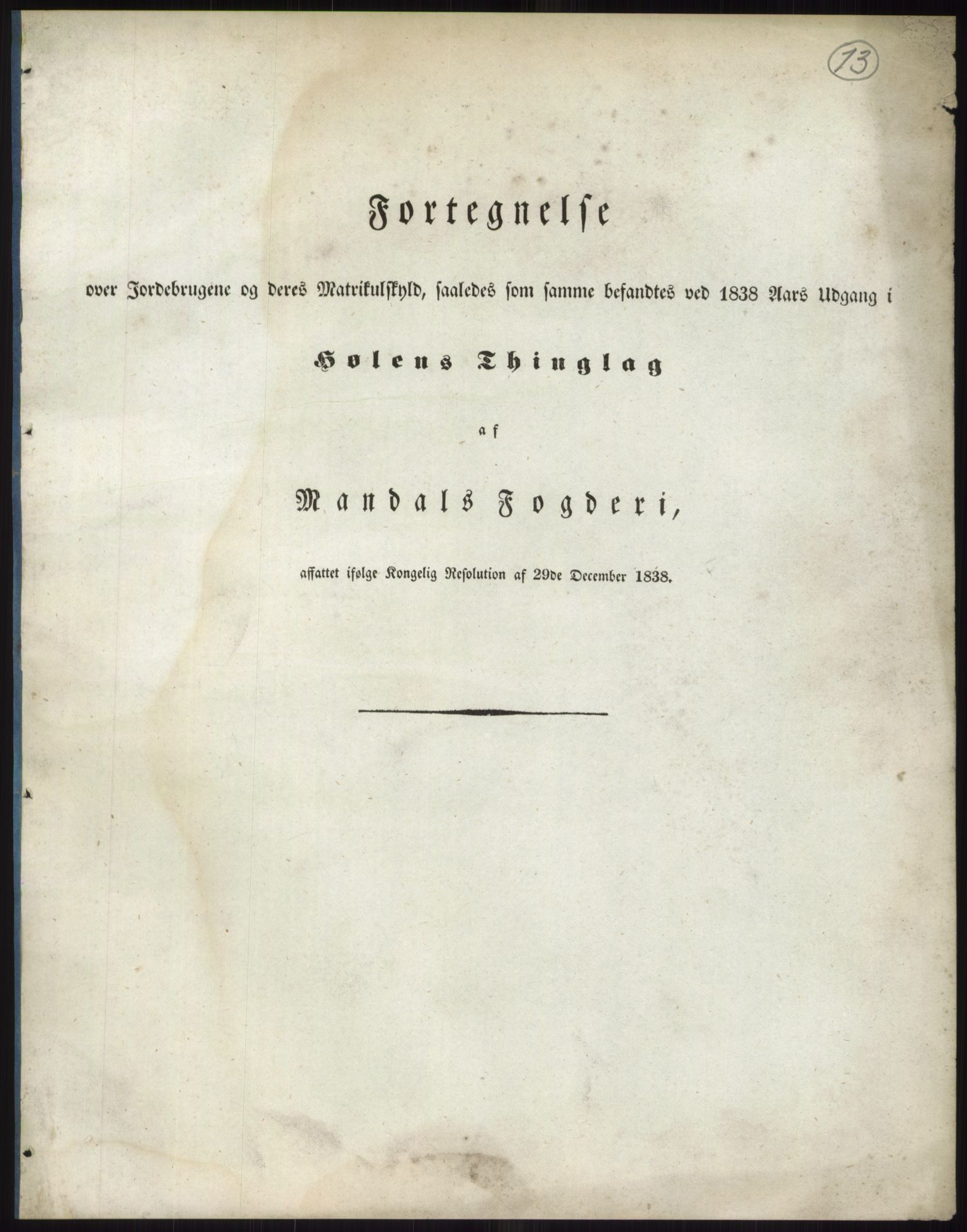 RA, 1838-matrikkelen (publikasjon)*, 1838, s. 13