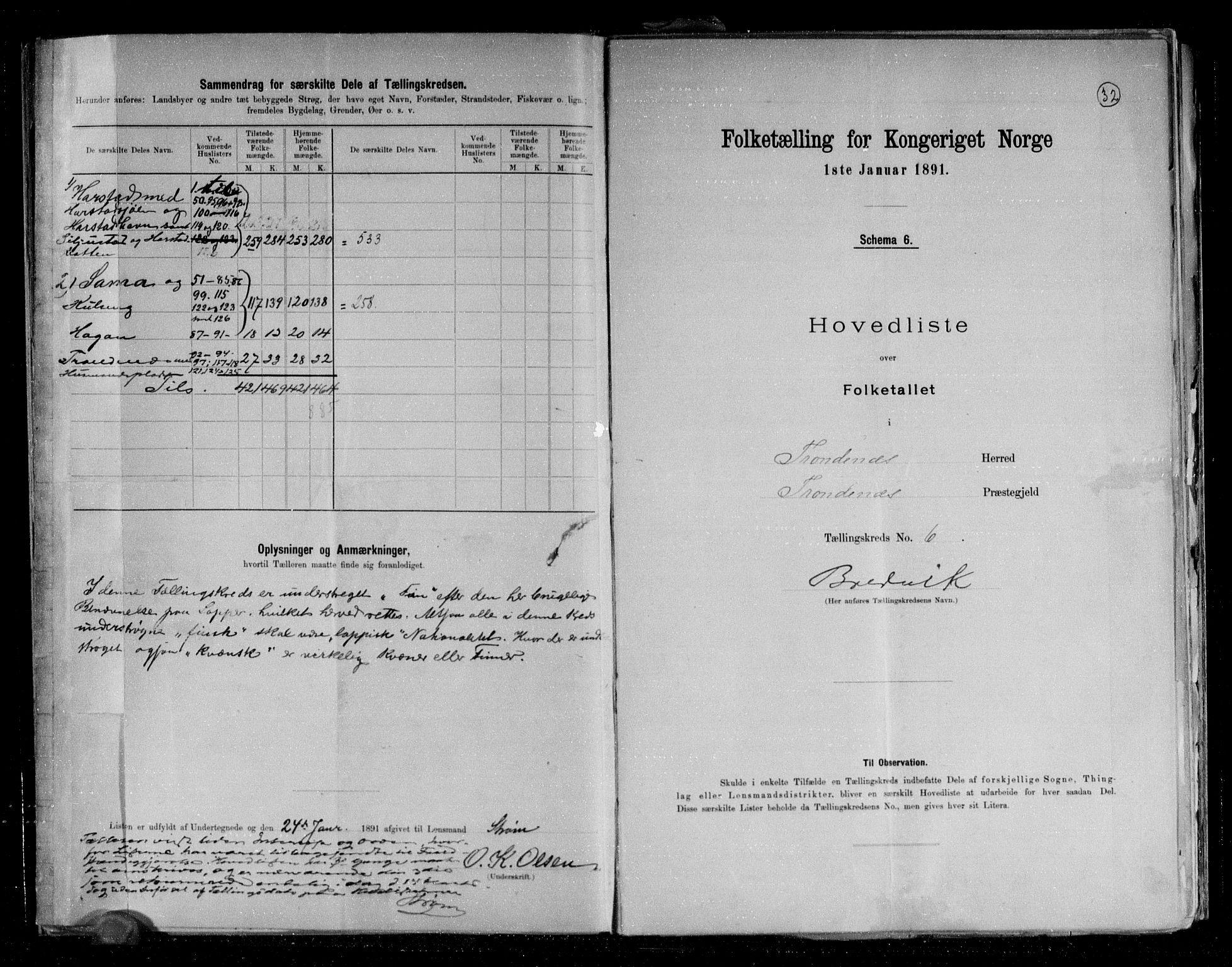 RA, Folketelling 1891 for 1914 Trondenes herred, 1891, s. 16